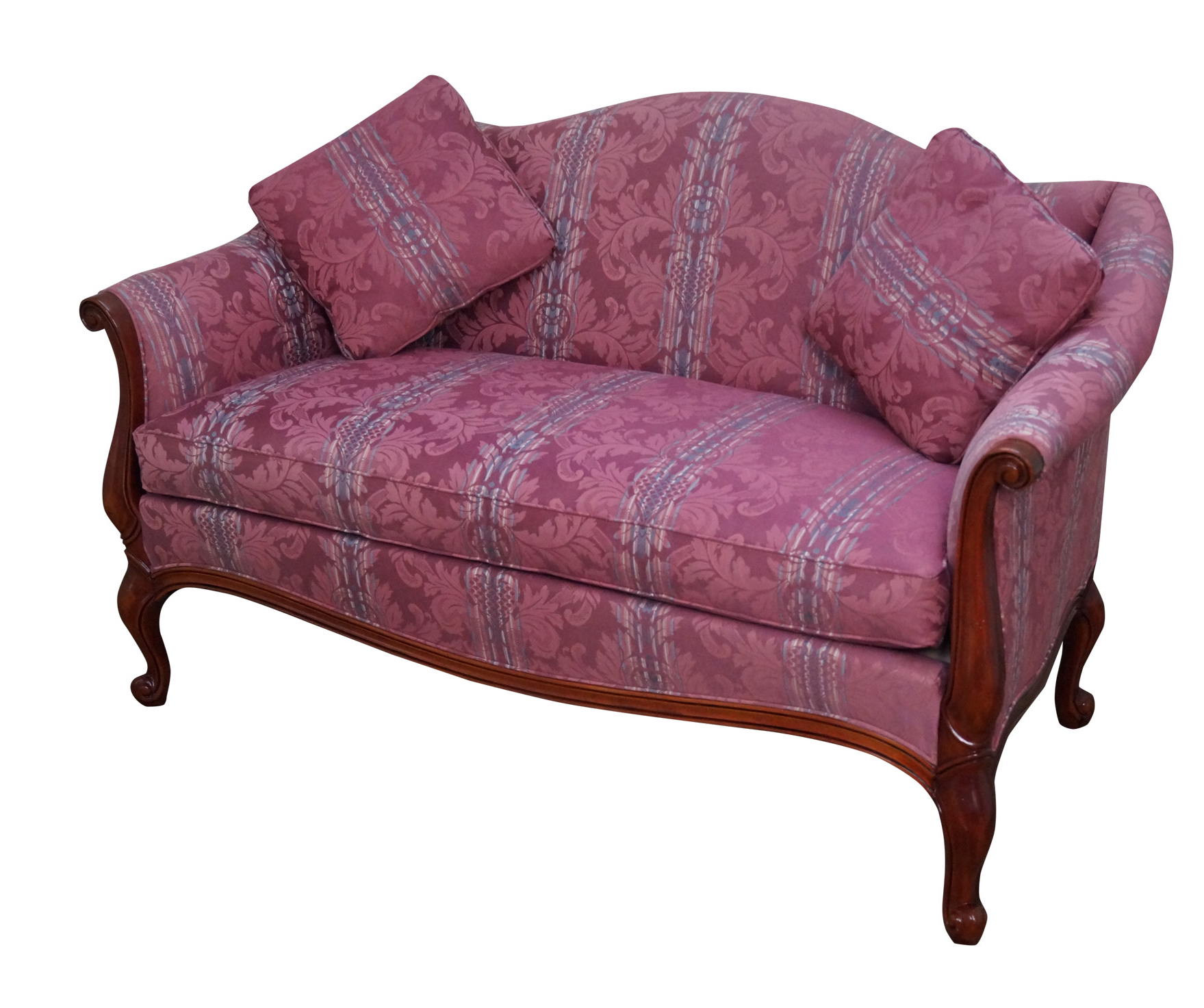 Hickory Chair French Mahogany Frame Loveseat