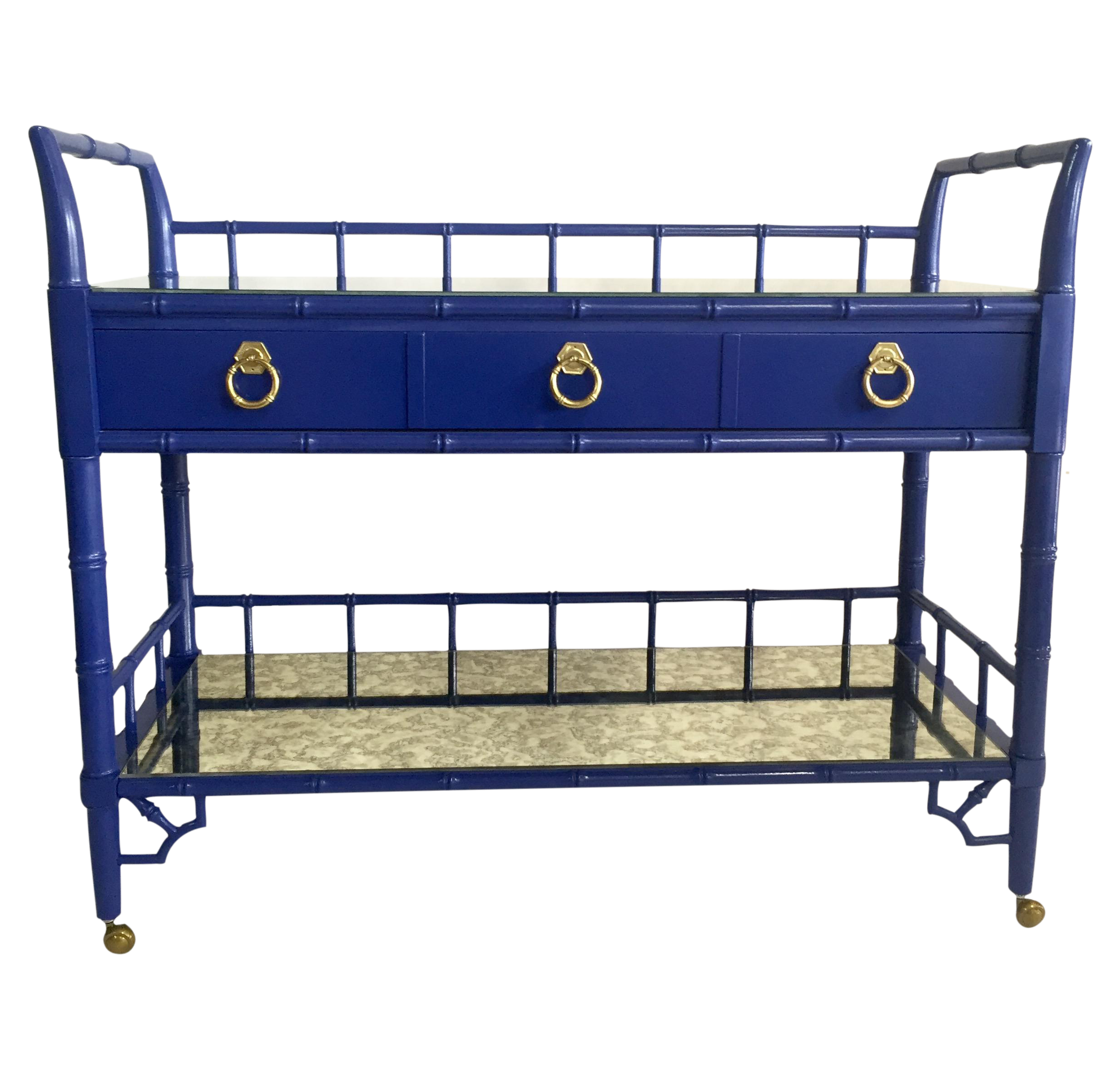 Thomasville Royal Blue Lacquered Server Chairish