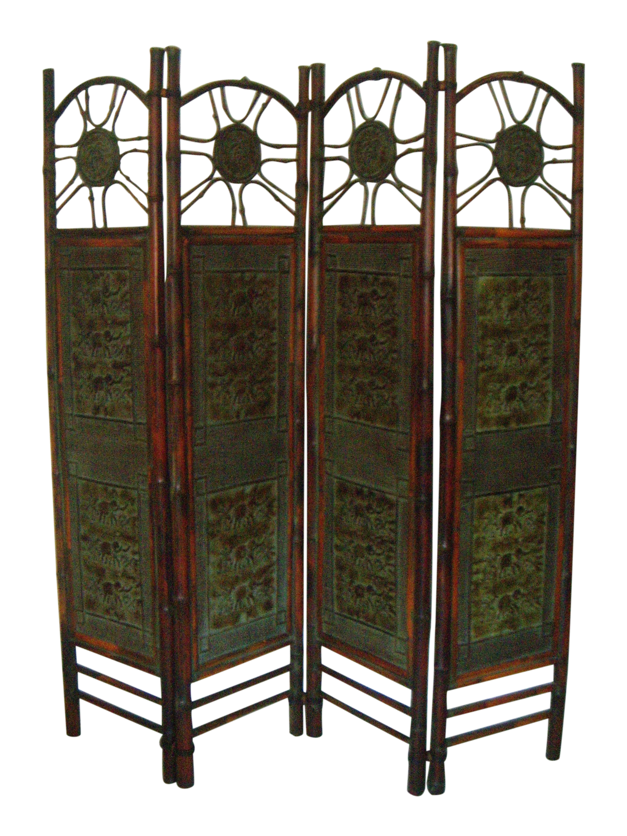 Oriental Elephant Bamboo Room Divider Chairish