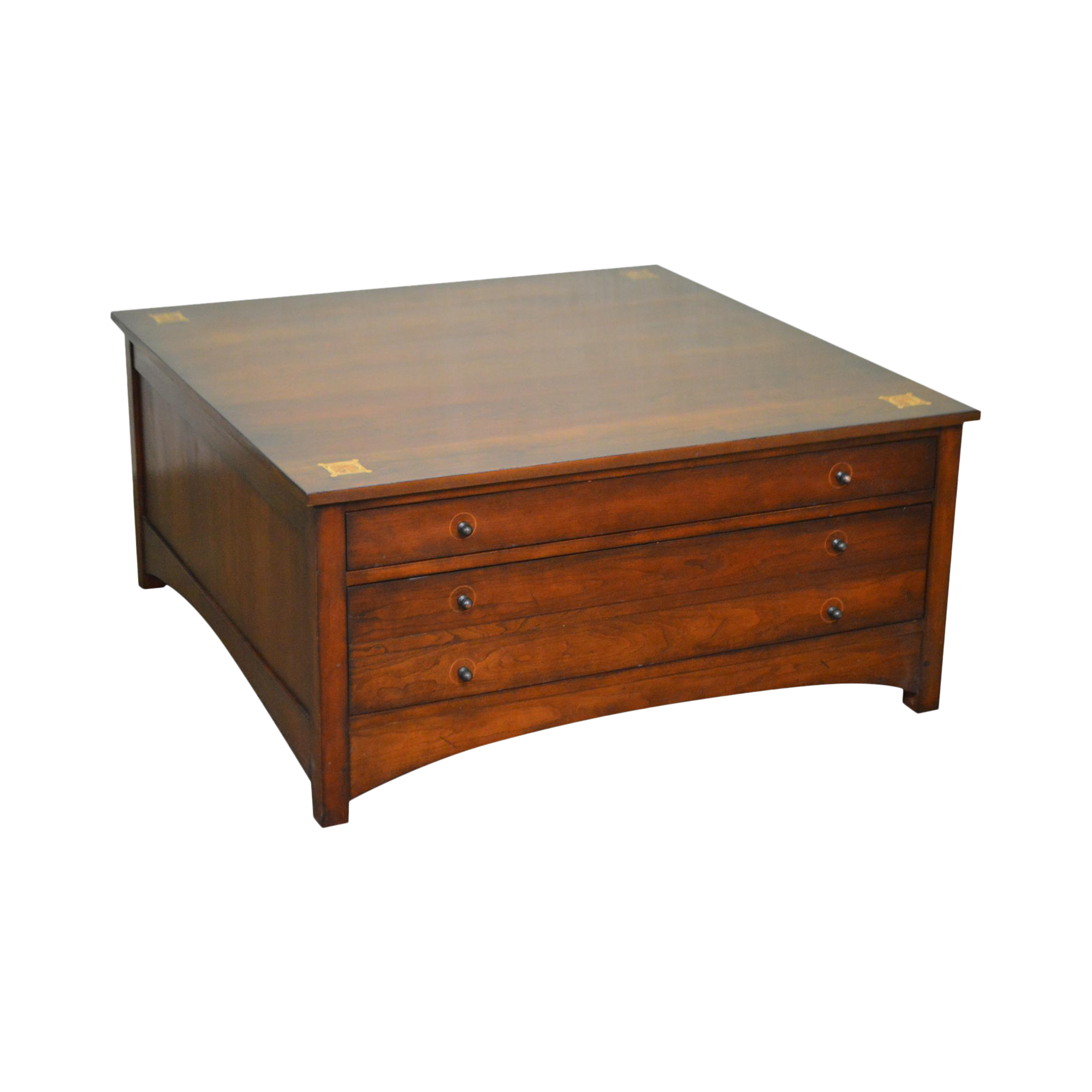 Stickley Harvey Ellis Cherry Square Cocktail Coffee Table w