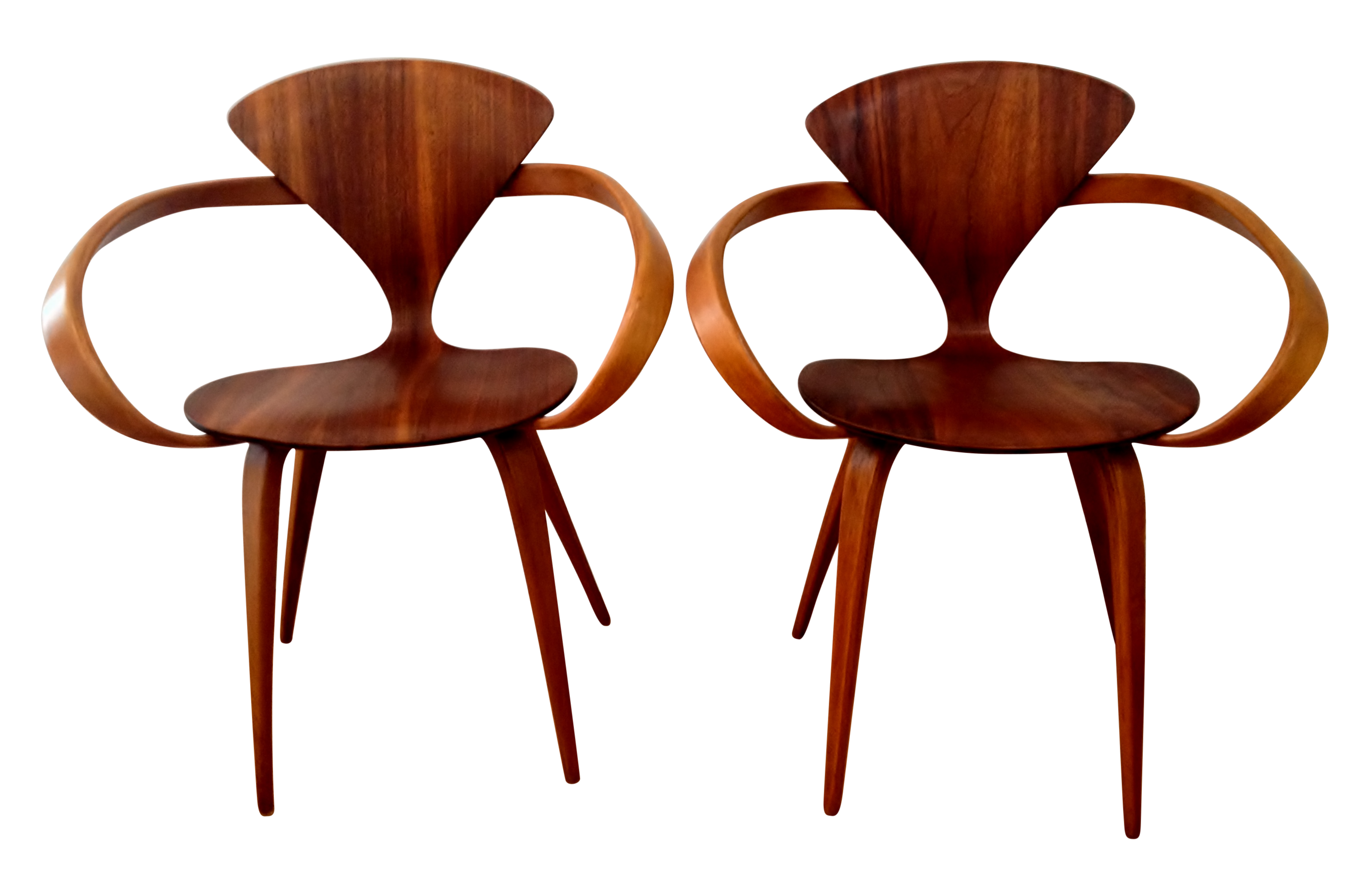 Norman Cherner Pretzel Chairs A Pair