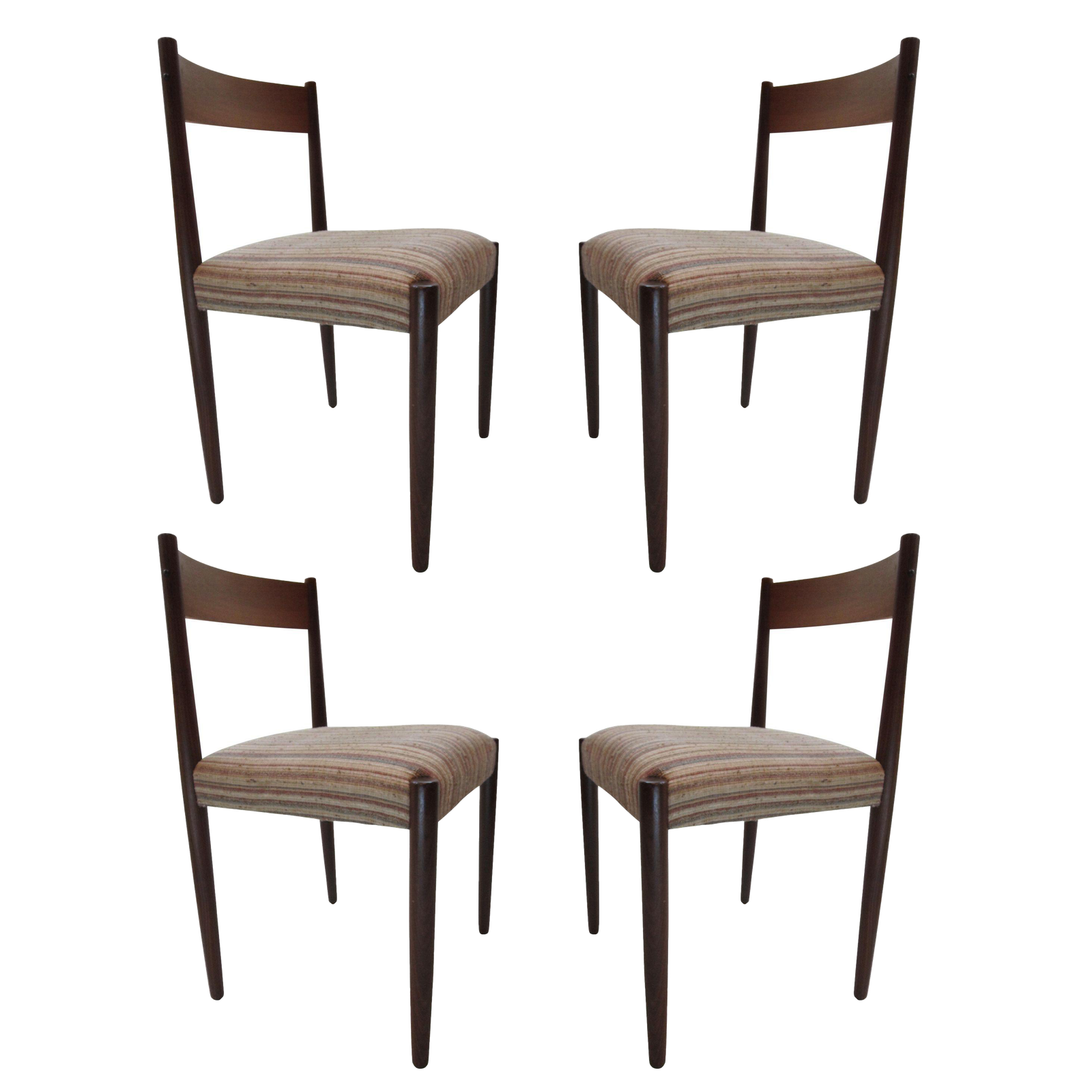 Poul volther danish modern teak dining chairs set of 4 for Modern dining chairs ireland
