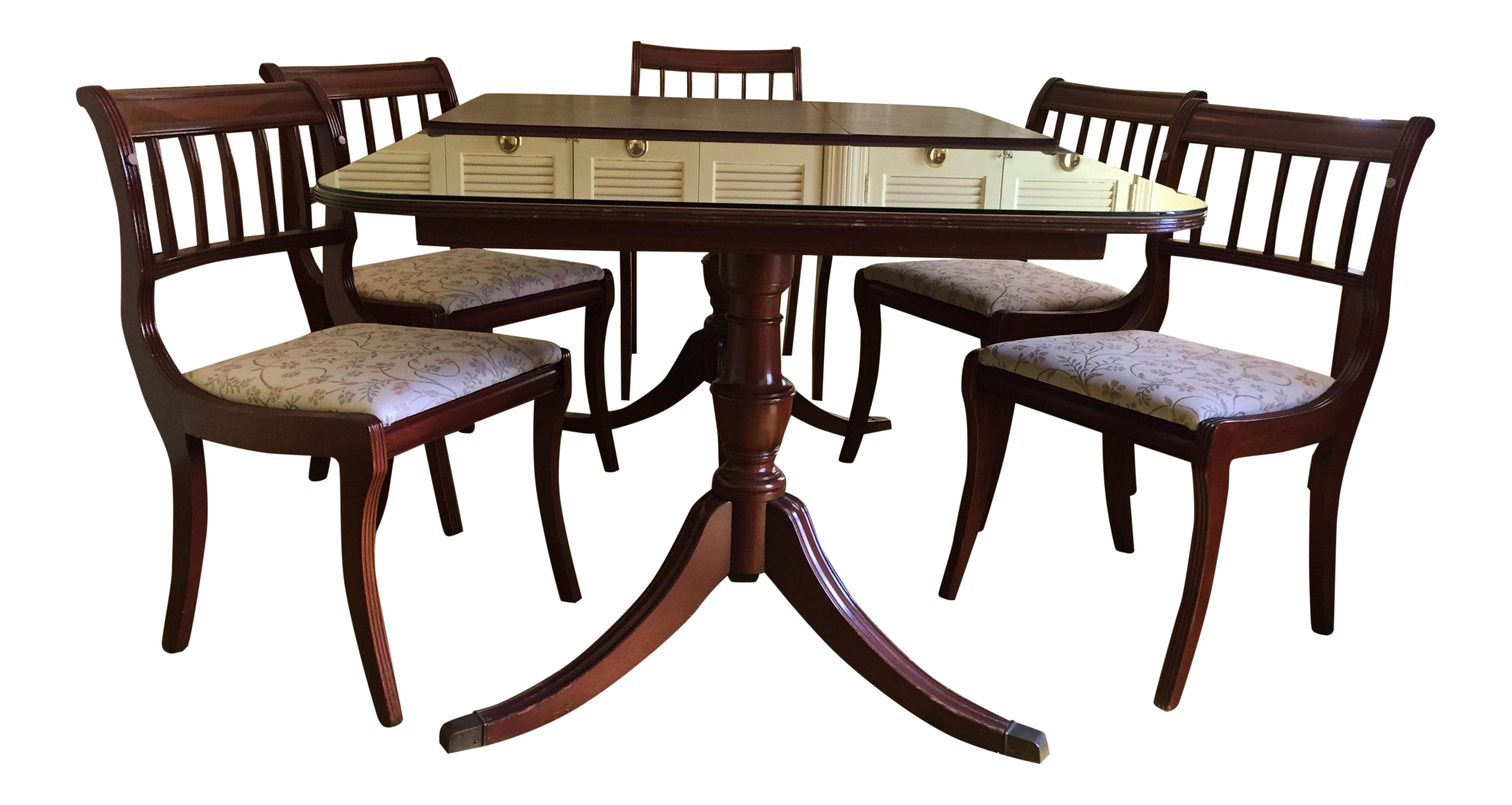 Henredon Heritage Regency Style Dining Table And Chairs