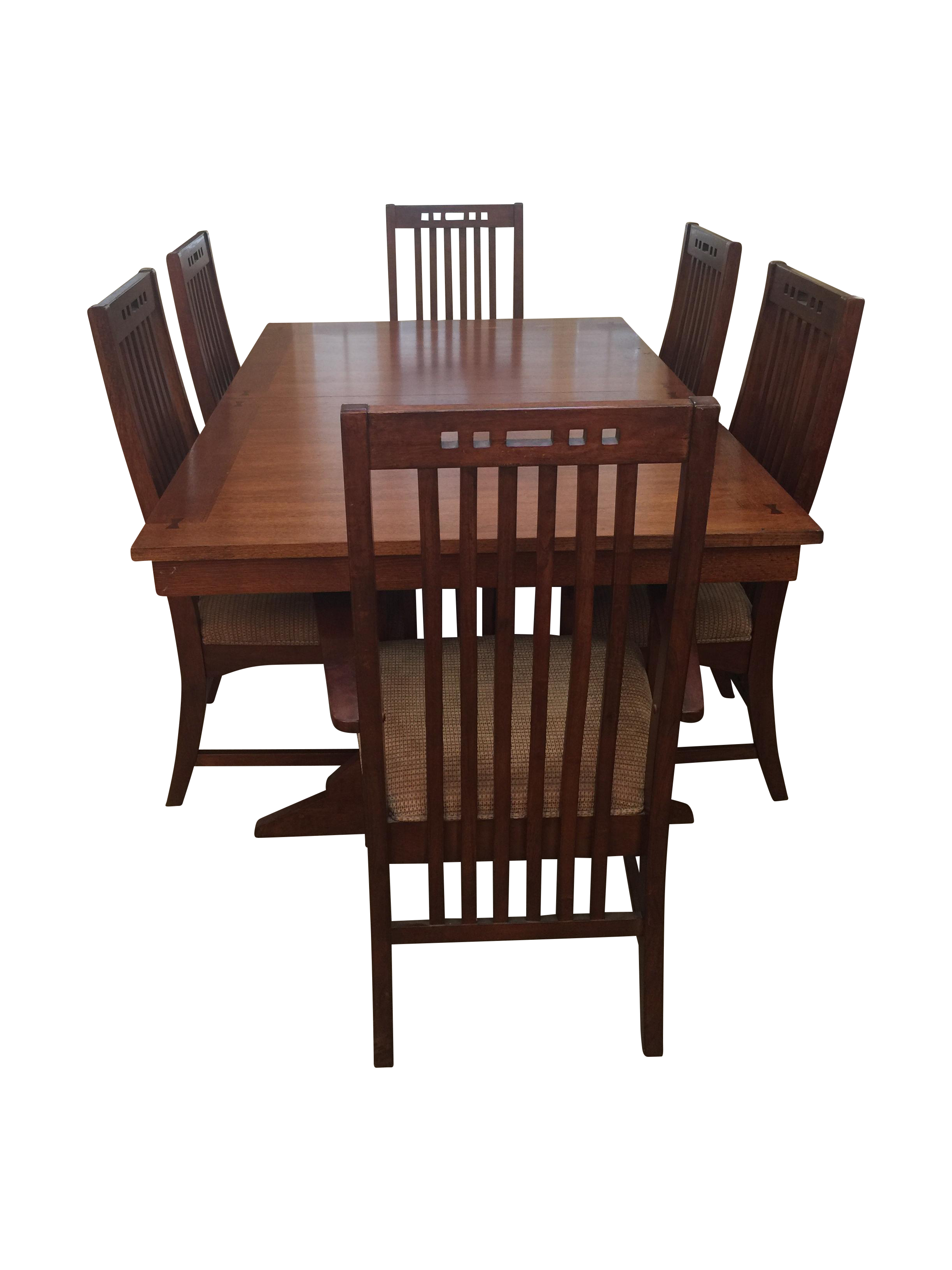 Broyhill Mission Style 7 Piece Dining Set | Chairish