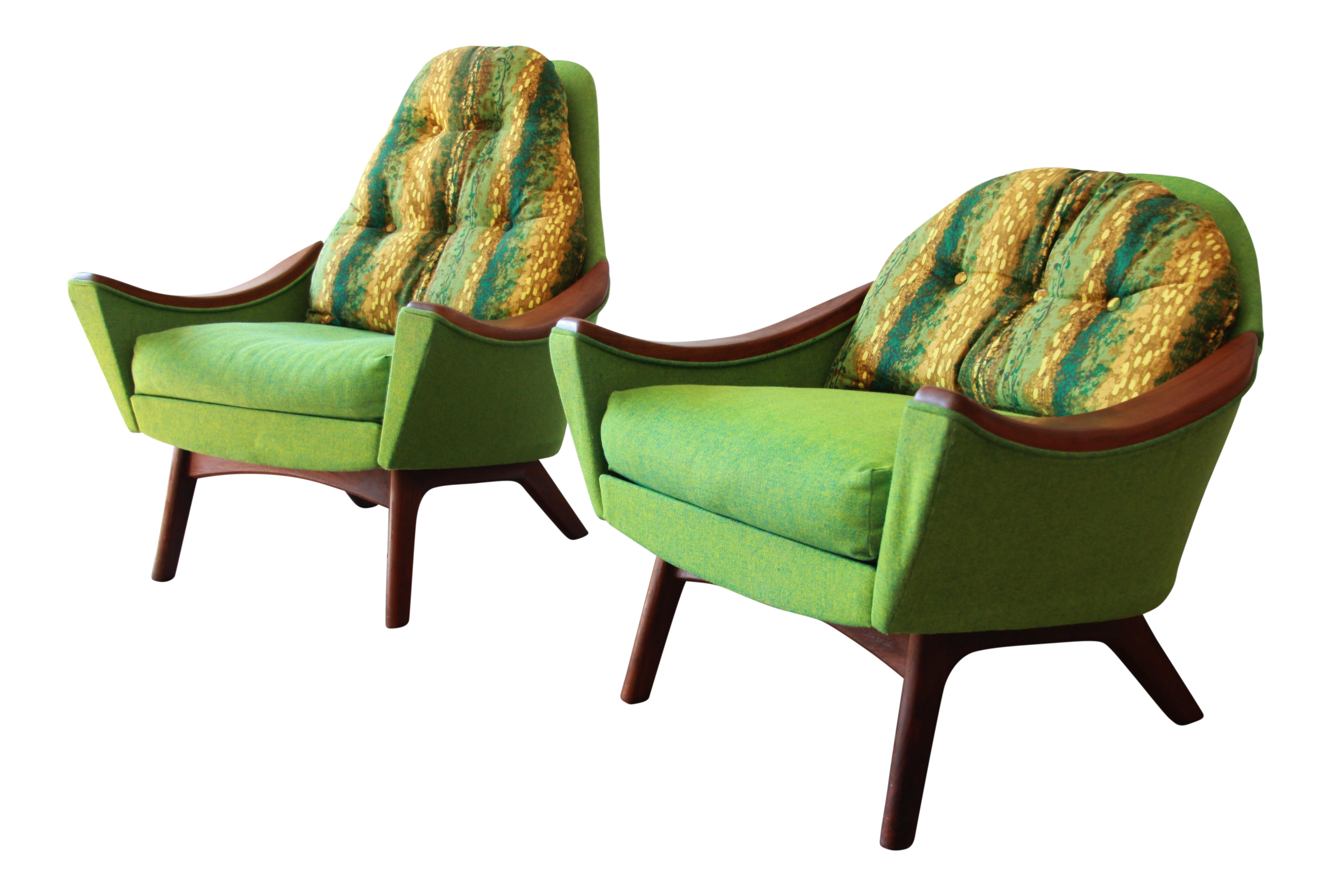 Original Adrian Pearsall Mid Century Modern His and Hers Lounge