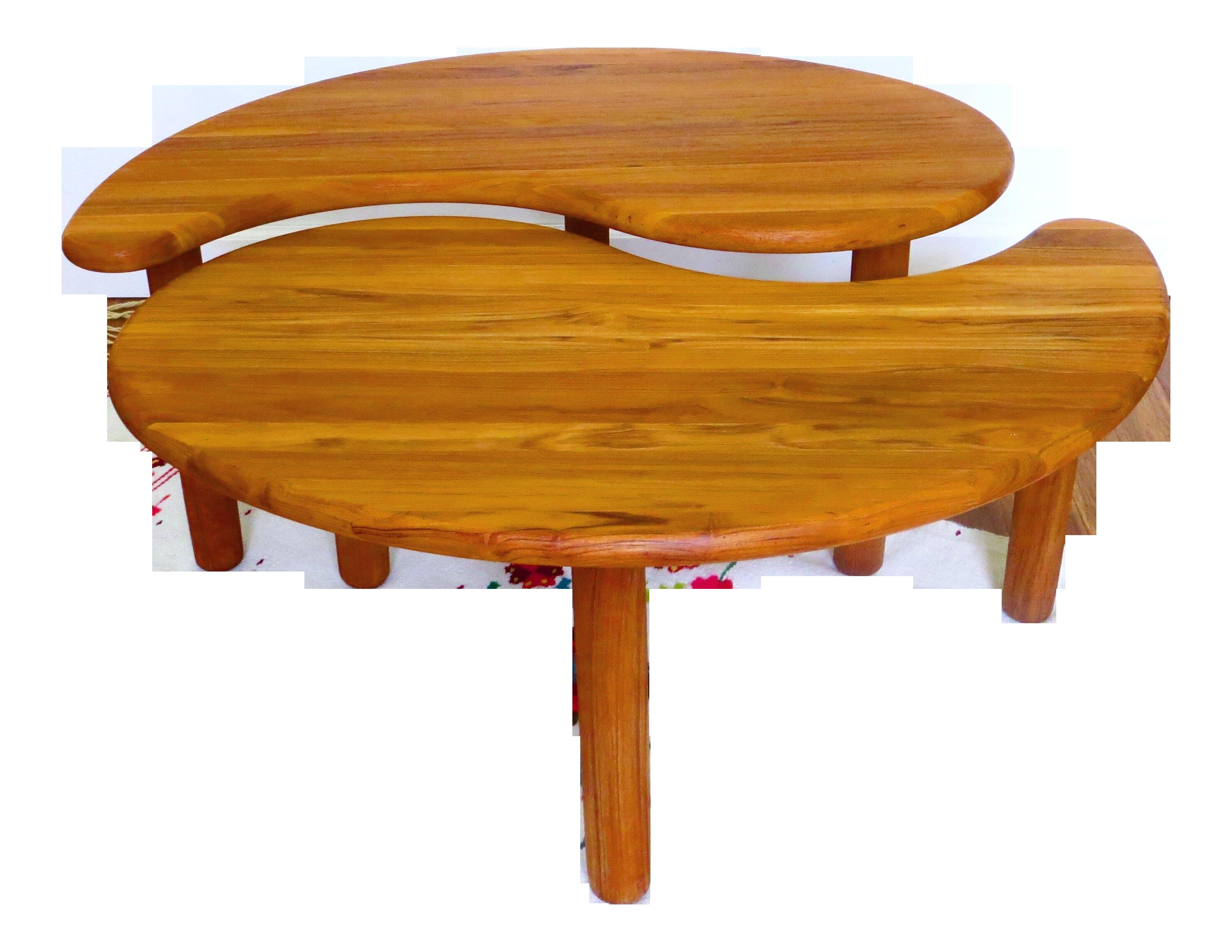 Vintage Danish Yin Yang Coffee Table Pair Side Chairish