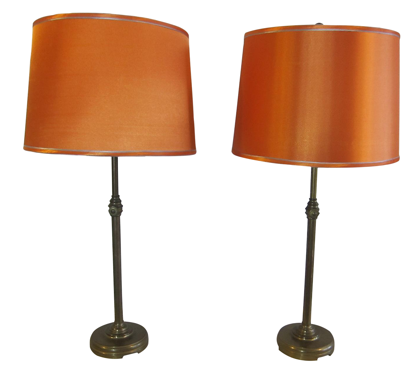 Adjustable brass lamps pair chairish for 0co om cca 9 source table