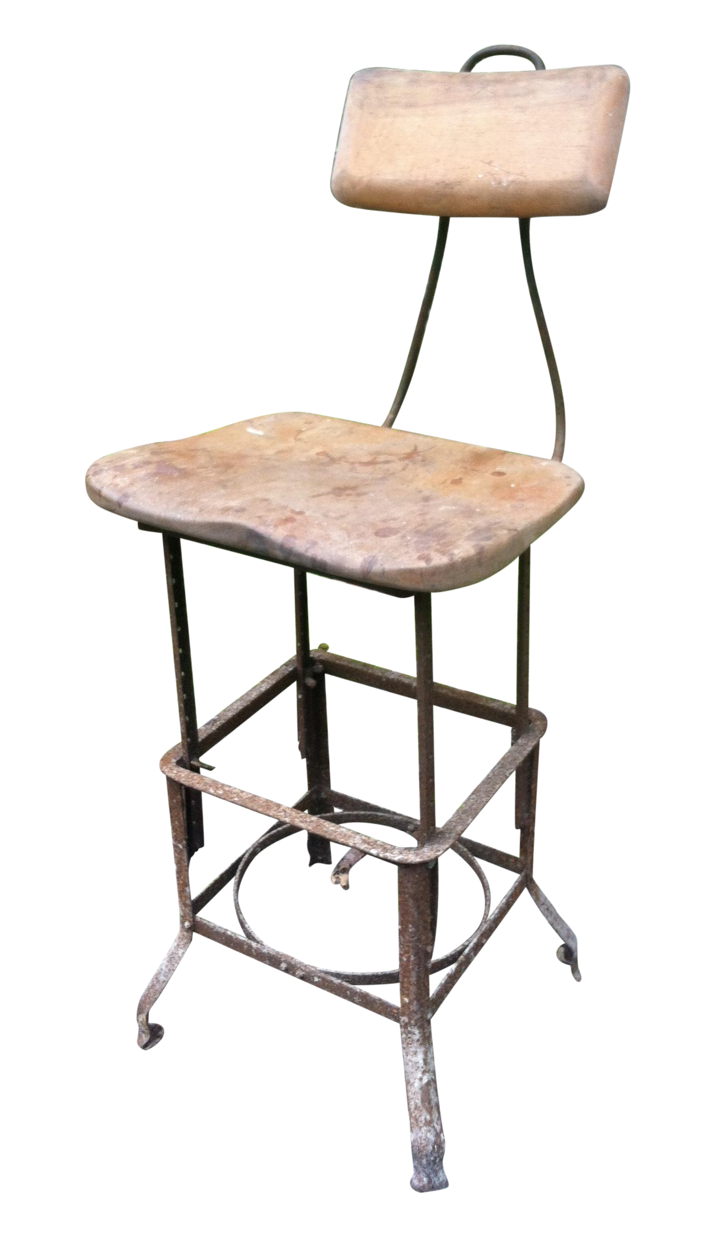 Vintage Industrial Drafting Stool Chairish
