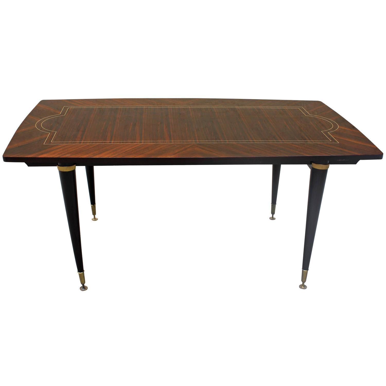 french art deco macassar ebony dining table chairish
