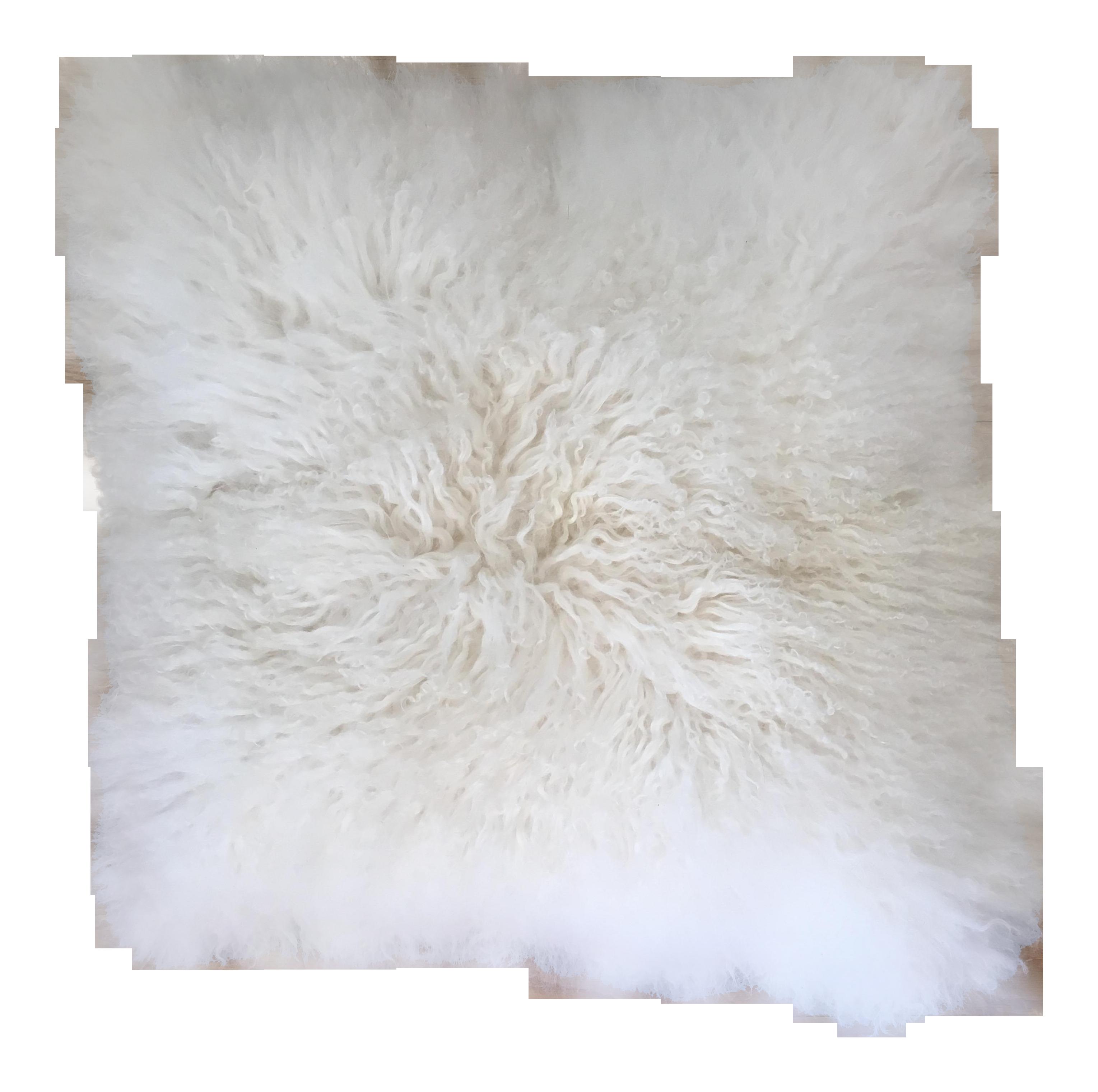 Tibetan White Lamb Fur Pillow