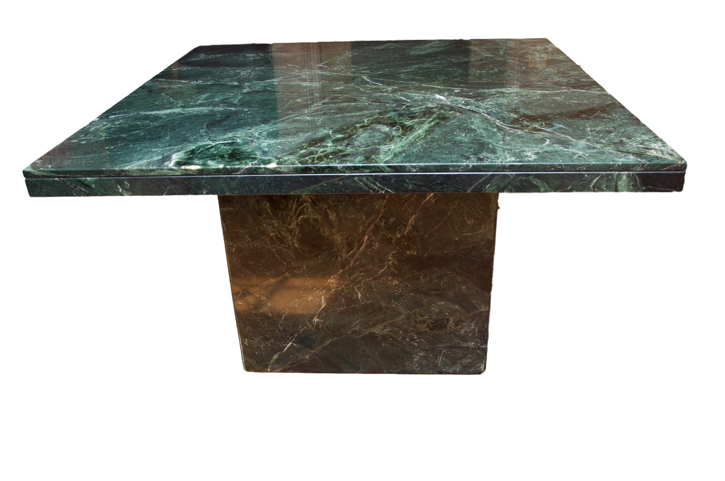 Modern Square Green Marble Dining Table