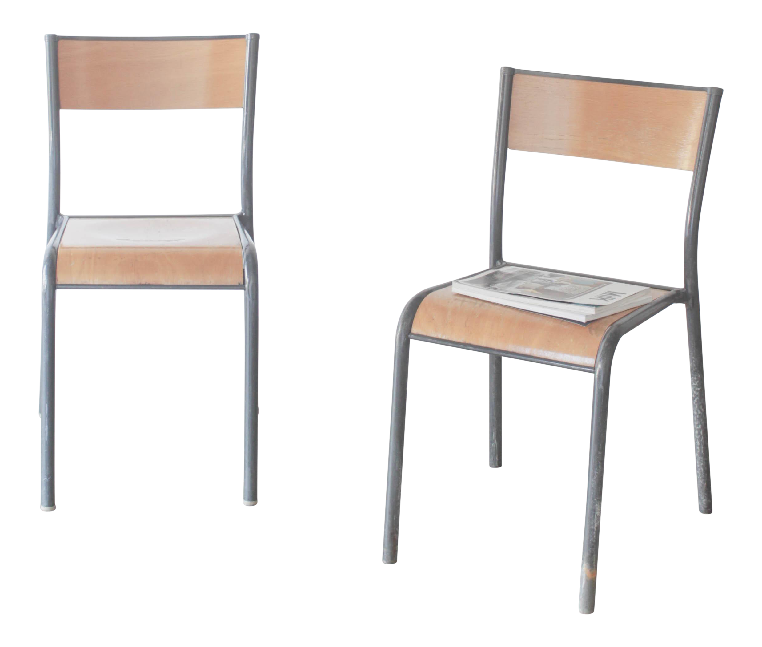 Mullca 510 schoolhouse chairs a pair chairish for Chaise mullca 510