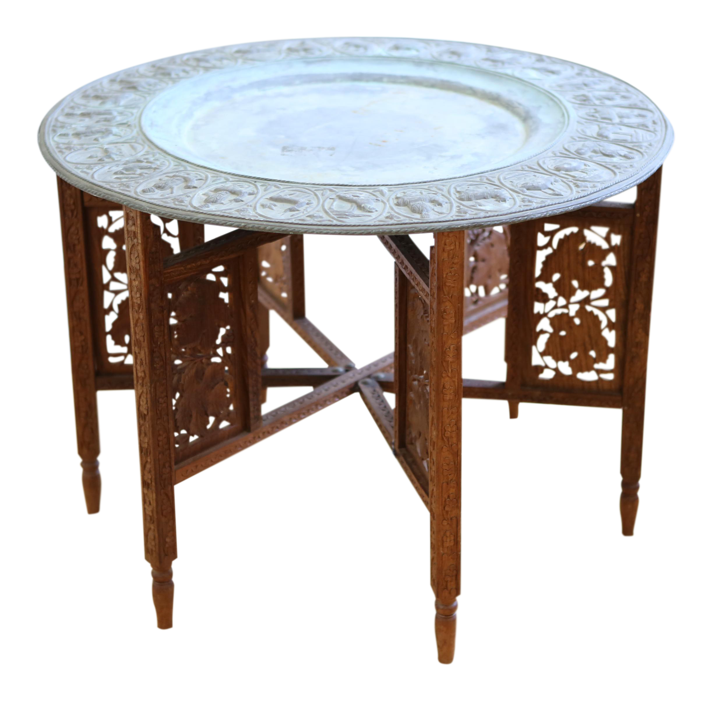 Moroccan Tray Accent Table Chairish