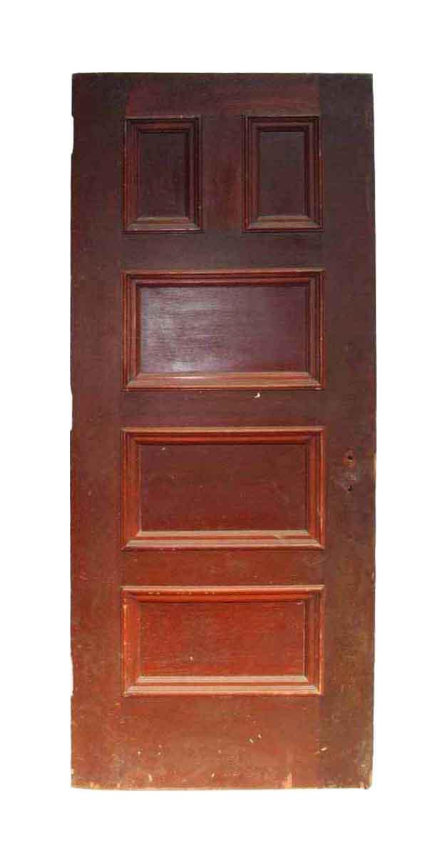 Antique 5 Panel Interior Wood Door Chairish