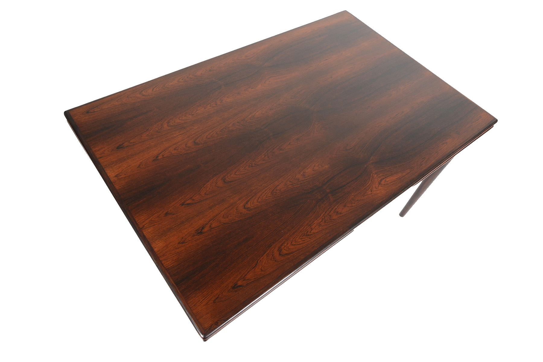 Rosewood Dining Table Danish Modern Draw Leaf Rosewood Dining Table Chairish