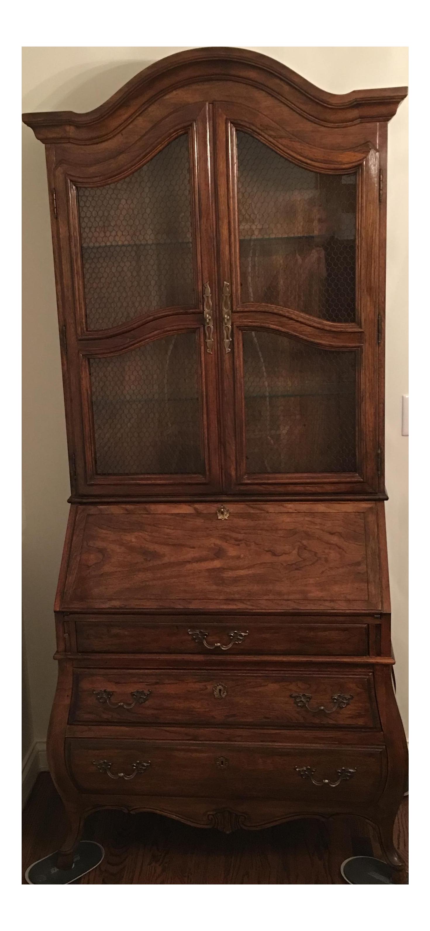 Vintage Drexel Secretary Desk Bookcase Chairish