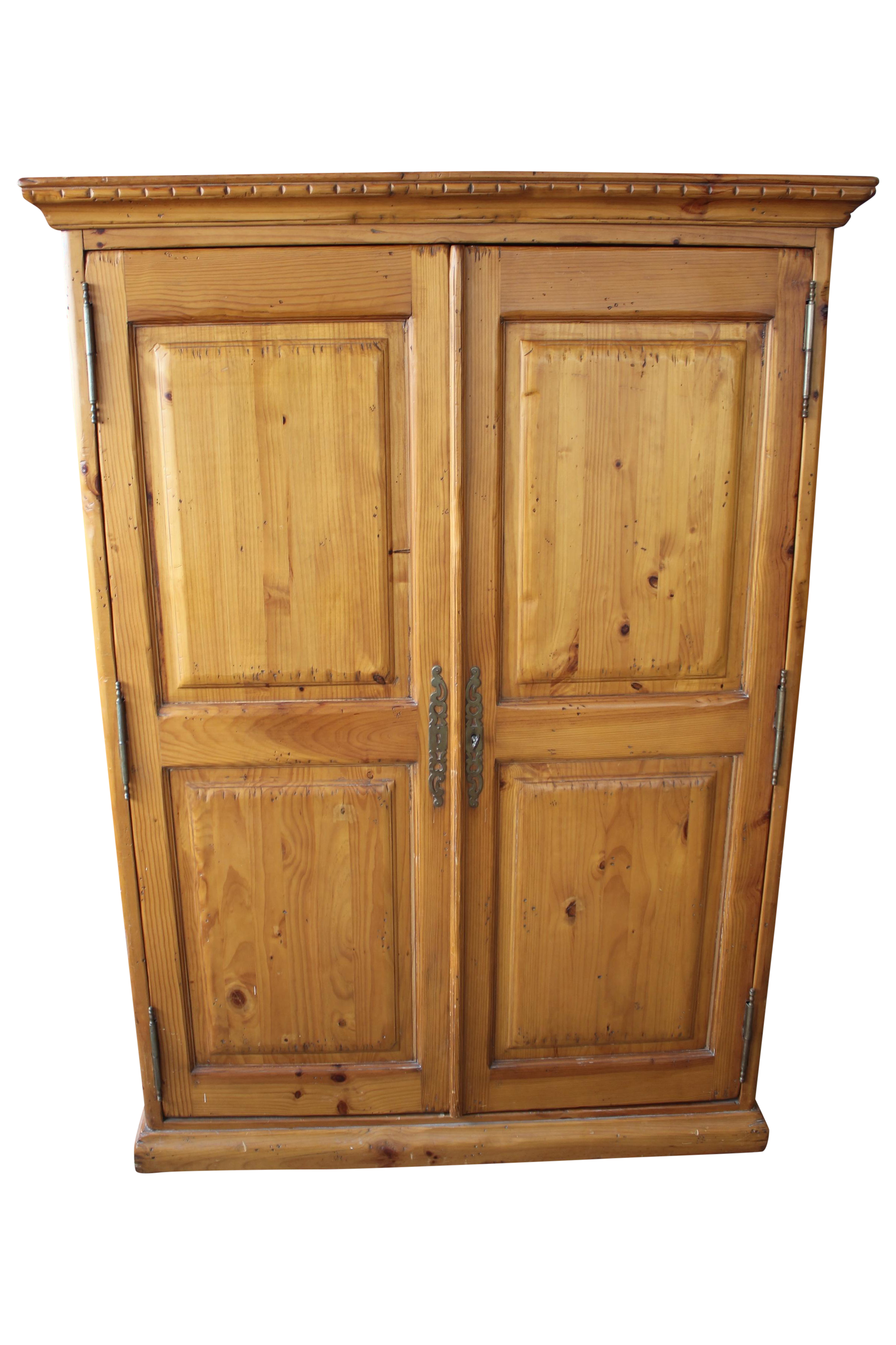 kreiss knotty pine wardrobe armoire chairish. Black Bedroom Furniture Sets. Home Design Ideas