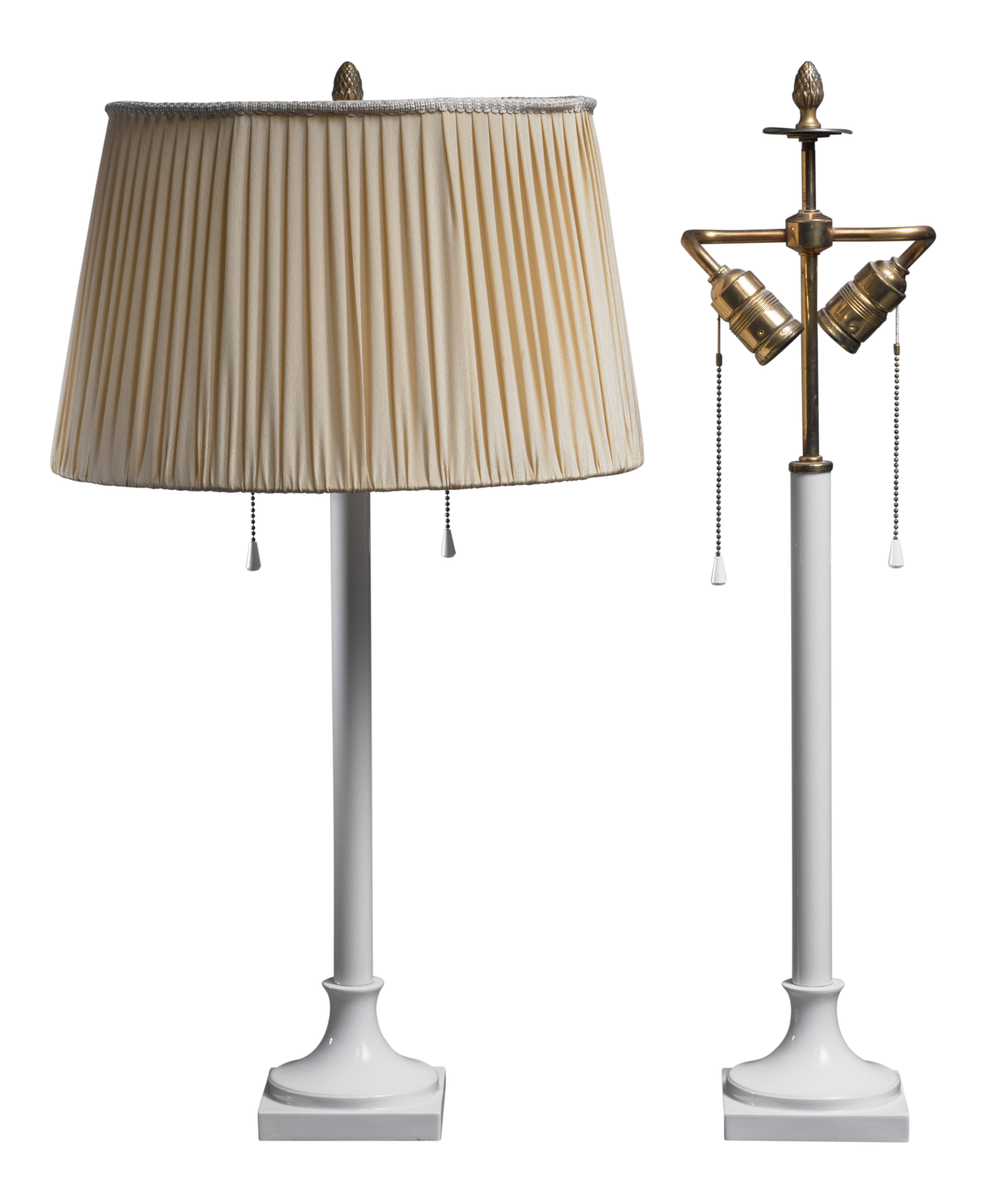 Superior Pair Of White Porcelain Table Lamps By KPM Berlin, 1930s | DECASO