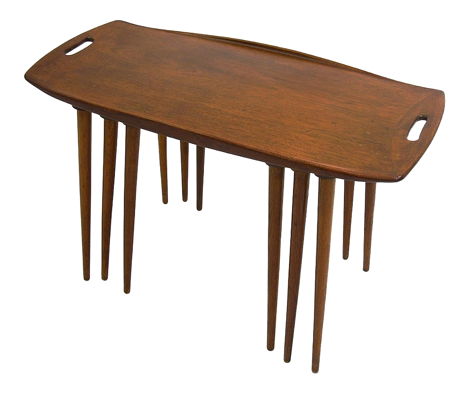 Jens Quistgaard Danish Teak Nesting Tables Set Of 3 Chairish. Full resolution  image, nominally Width 1571 Height 1317 pixels, image with #472A18.