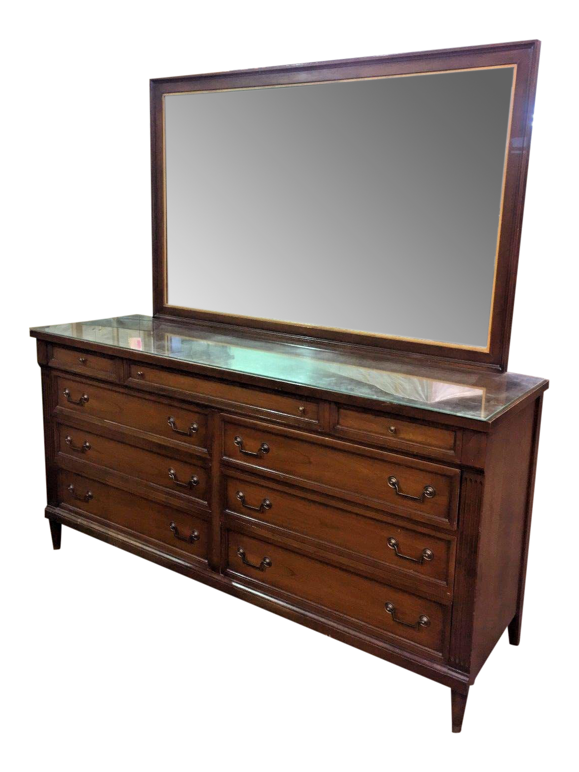 phenix furniture co mid century modern dresser with mirror chairish. Black Bedroom Furniture Sets. Home Design Ideas