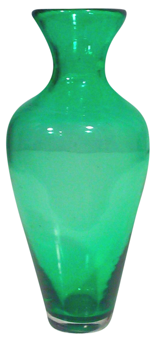 Mid Century Emerald Green Art Glass Vase Chairish