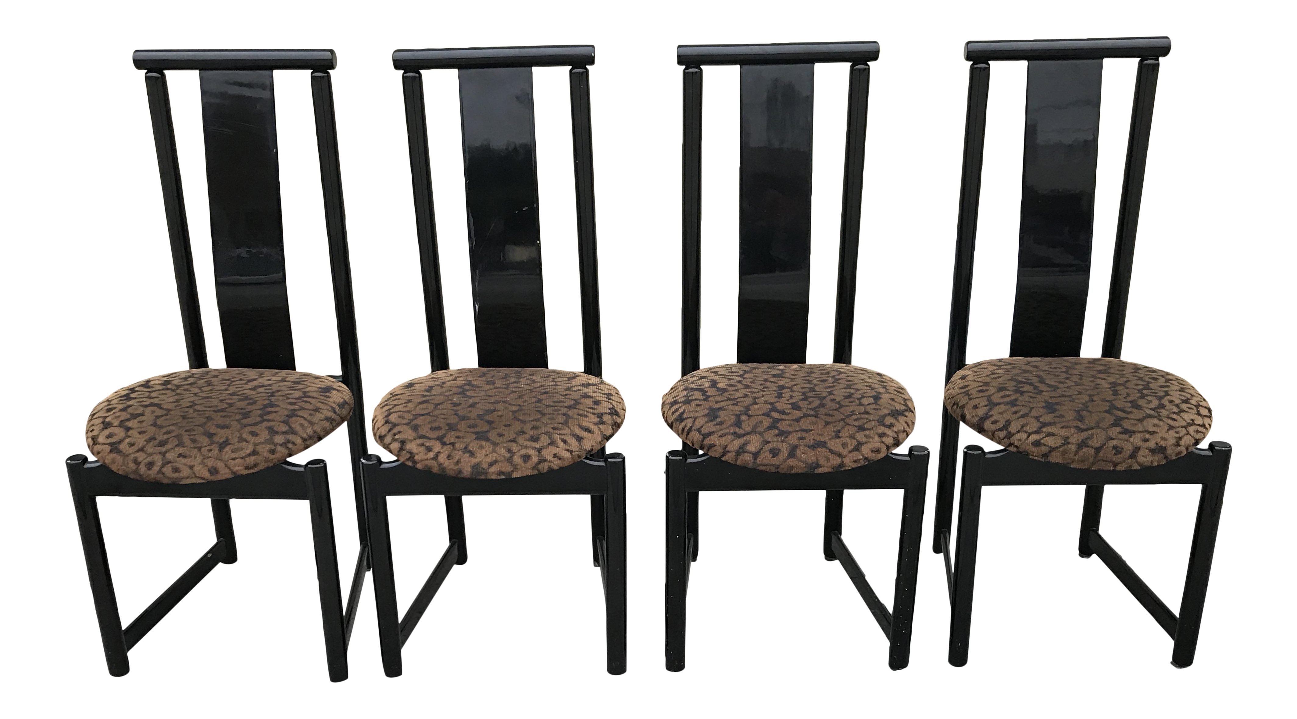 Cheetah Print Dining Chairs Best Cheetah Image And Photo  : 1980s black cheetah print dining chairs set of 4 0126 from cheetah.tigonps.us size 4254 x 2358 png 7758kB