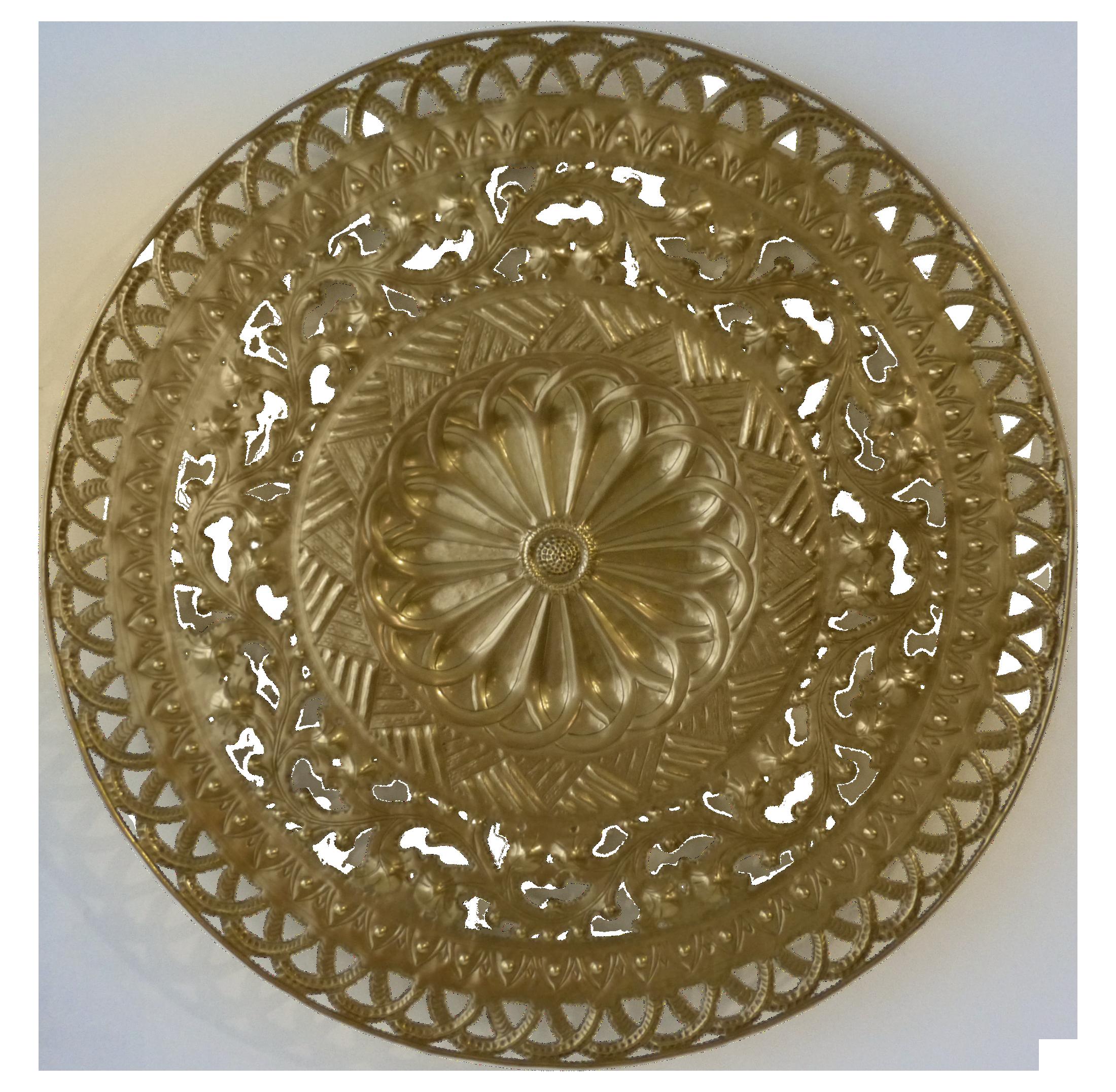 Brass Kitchen Wall Decor : Italian wall art image of pierced flower brass