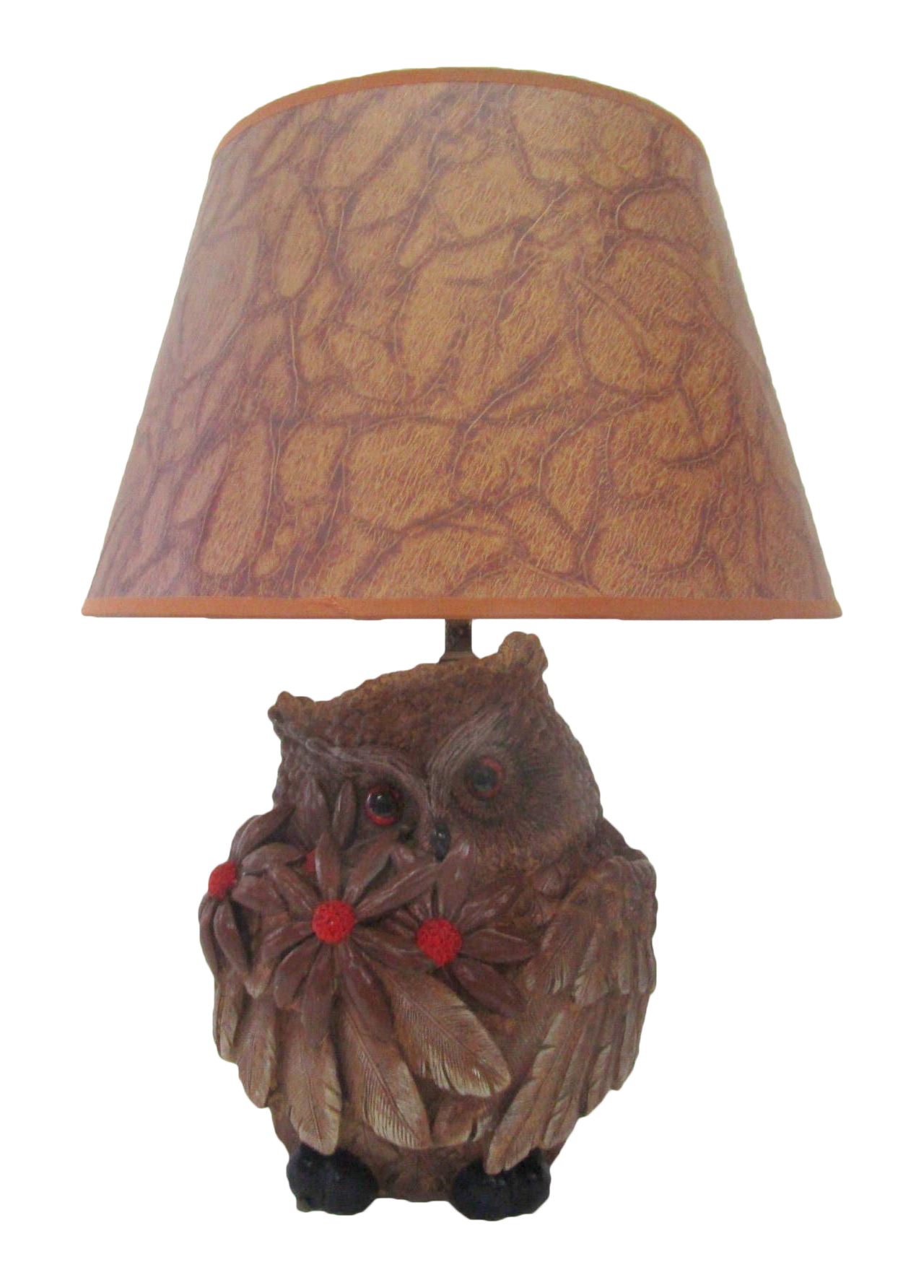 Mid Century Carved Wood Owl Lamp Chairish
