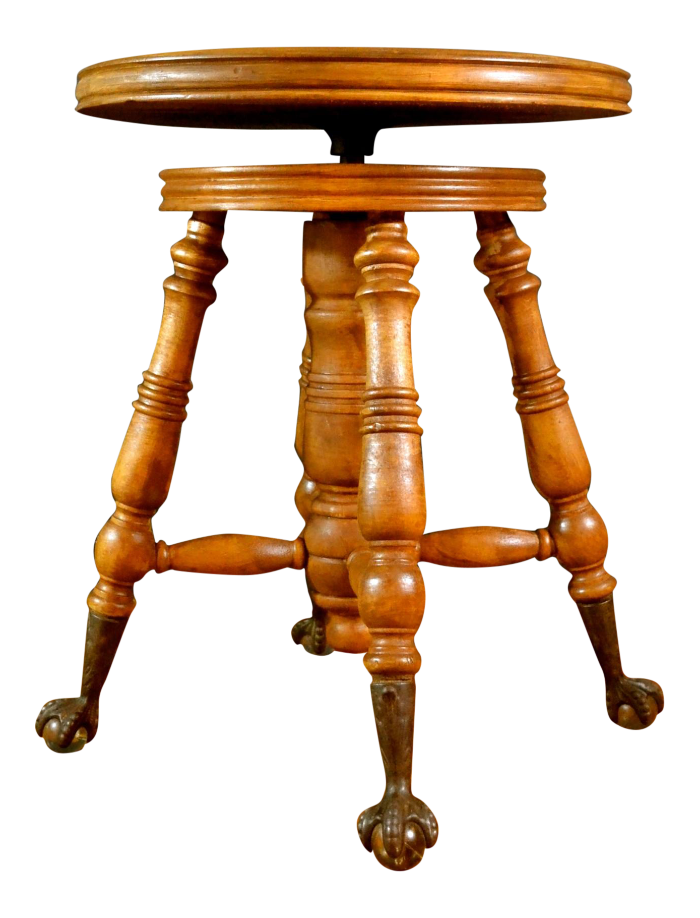 sc 1 st  Chairish & Antique Adjustable Claw Foot Piano Stool | Chairish islam-shia.org
