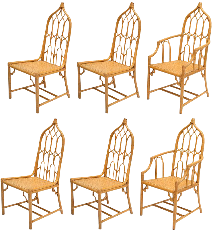 Mcguire Bamboo Dining Chairs Set Of 6 Chairish