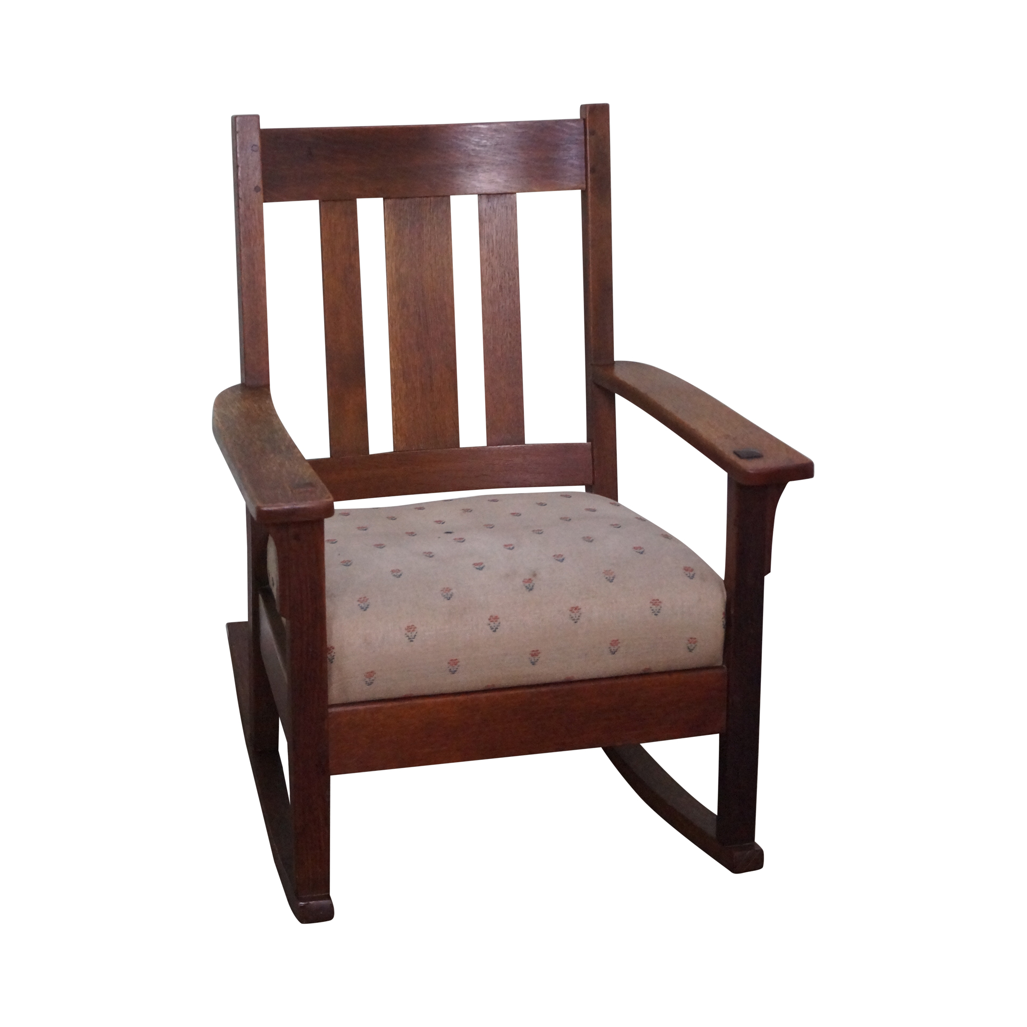 Antique Mission Oak Rocking Chair