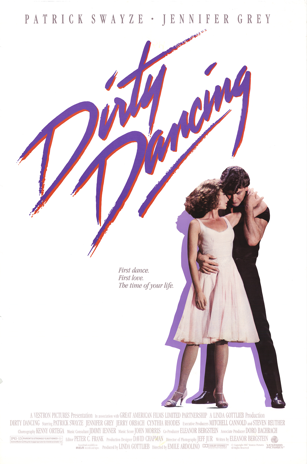 Original 1987 Dirty Dancing Movie Poster Chairish