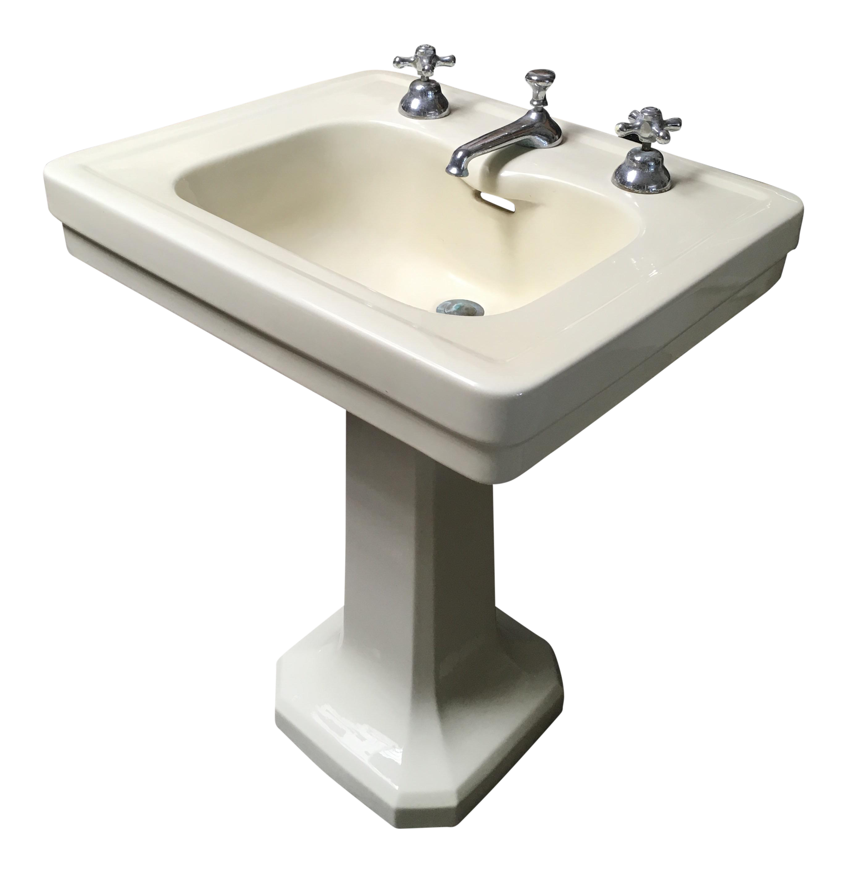 art deco bathroom sinks american standard antique deco pedestal sink chairish 15438