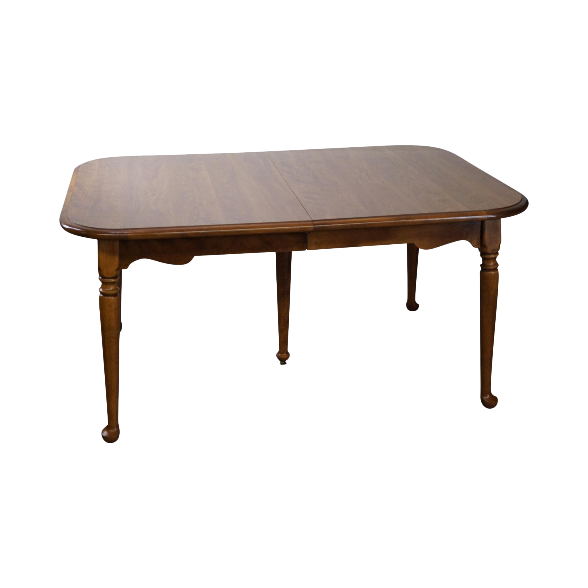 Ethan allen traditional maple dining table w 2 leaves for Maple dining table