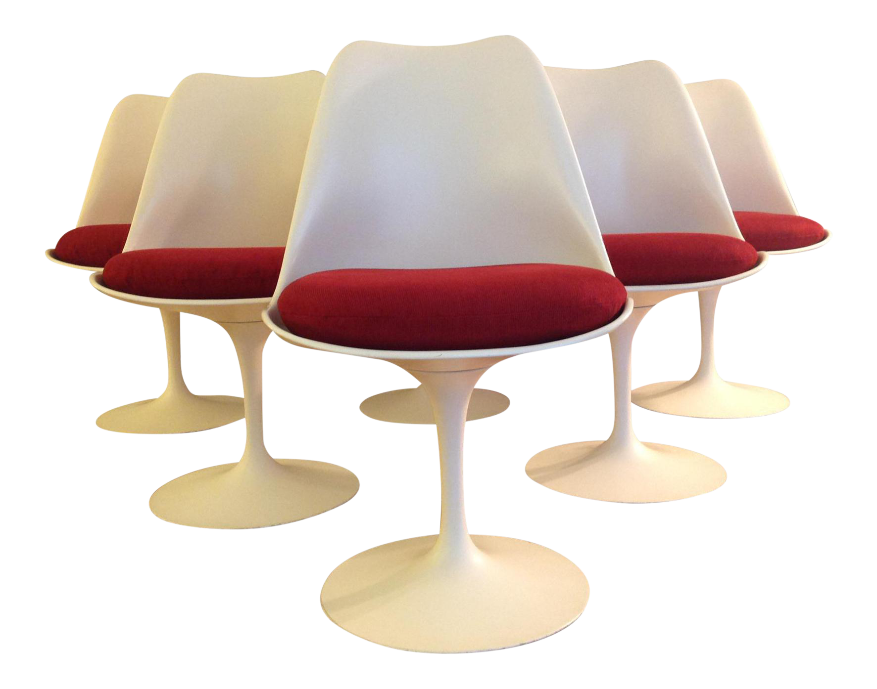 Eero Saarinen Tulip Dining Chairs for Knoll Set of 8