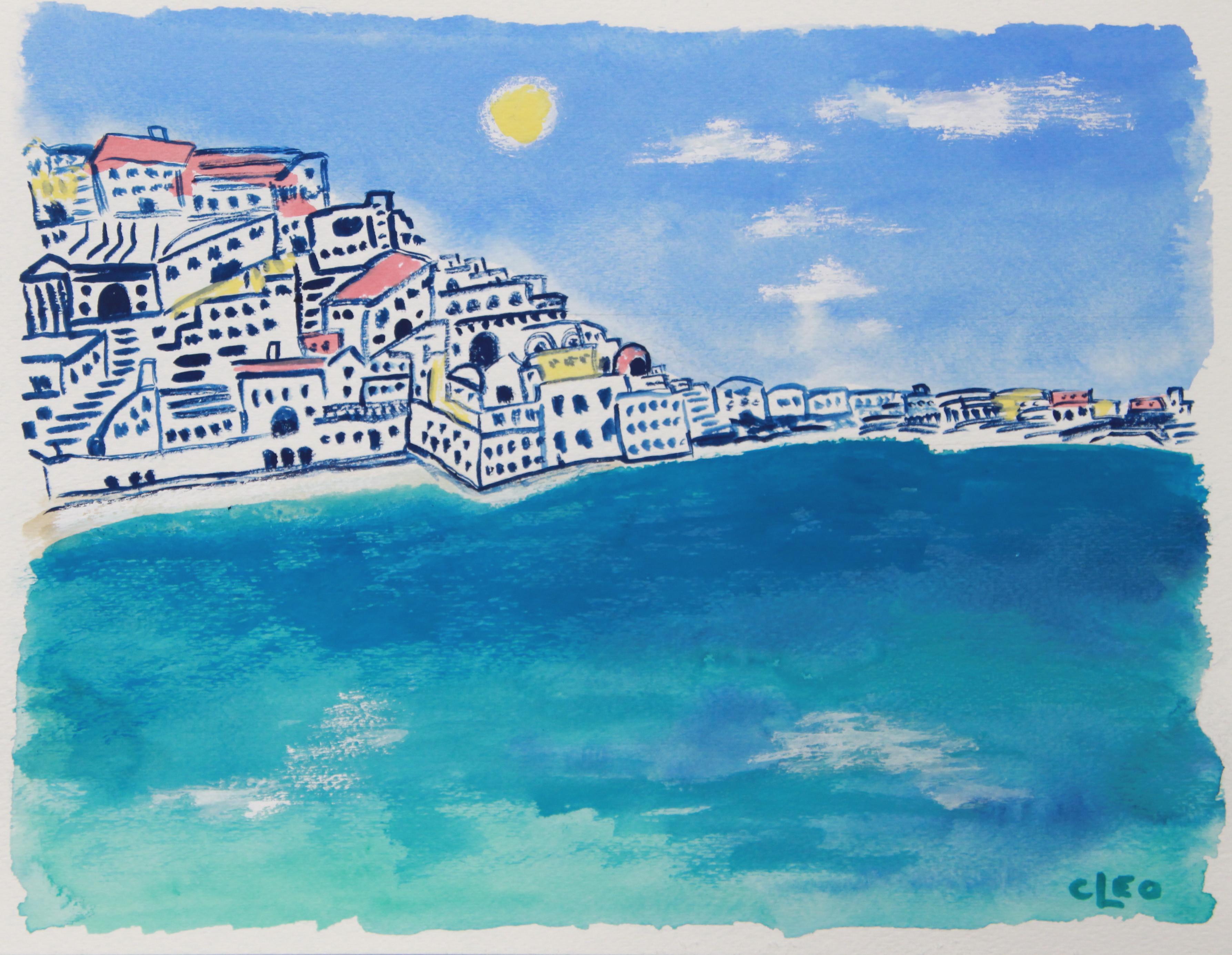 Greek Island Beach Impressionist Seascape By Cleo Chairish