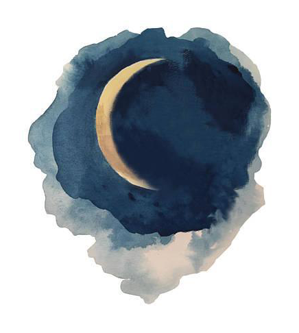 Phases Of The Moon Series Watercolor Painting Chairish