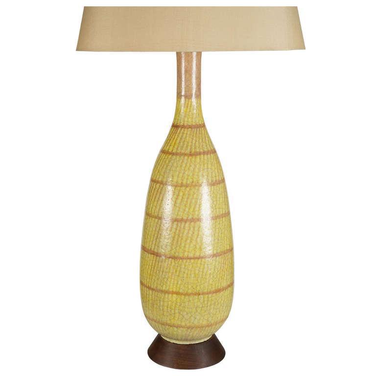 Image of Large Gambone Ceramic Table Lamp