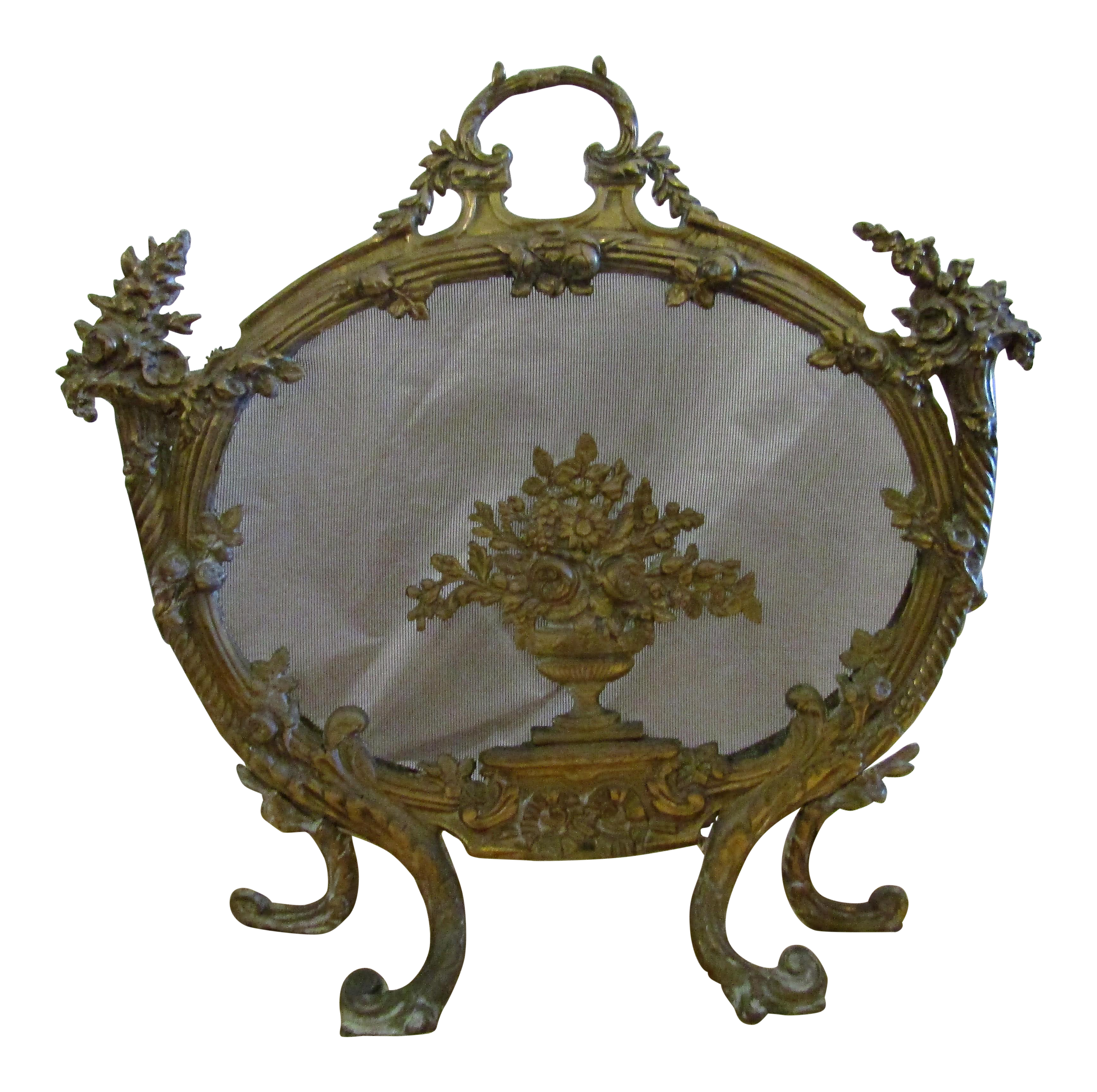 french fireplace screens. Antique French Rococo Style Cast Bronze Bird s Nest Fireplace Screen Vintage  Used Screens Fenders Chairish