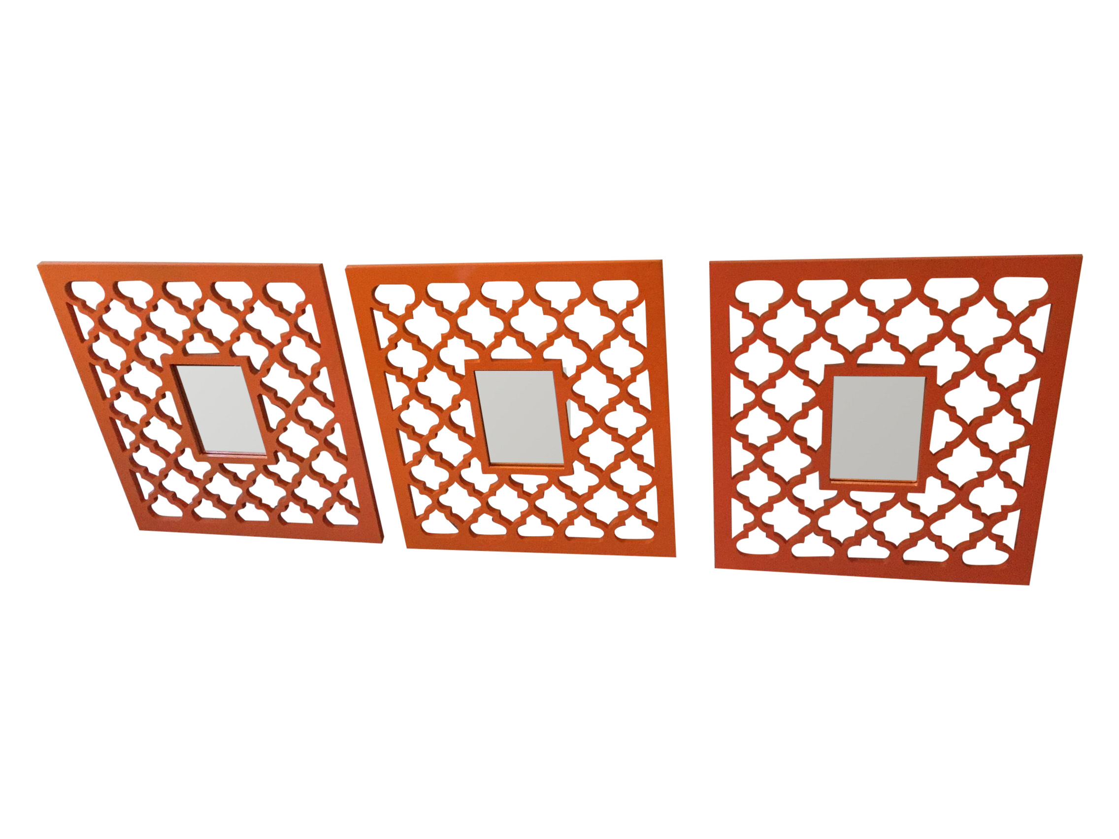Z Gallerie Orange Mirror Frames Set Of 3 Chairish