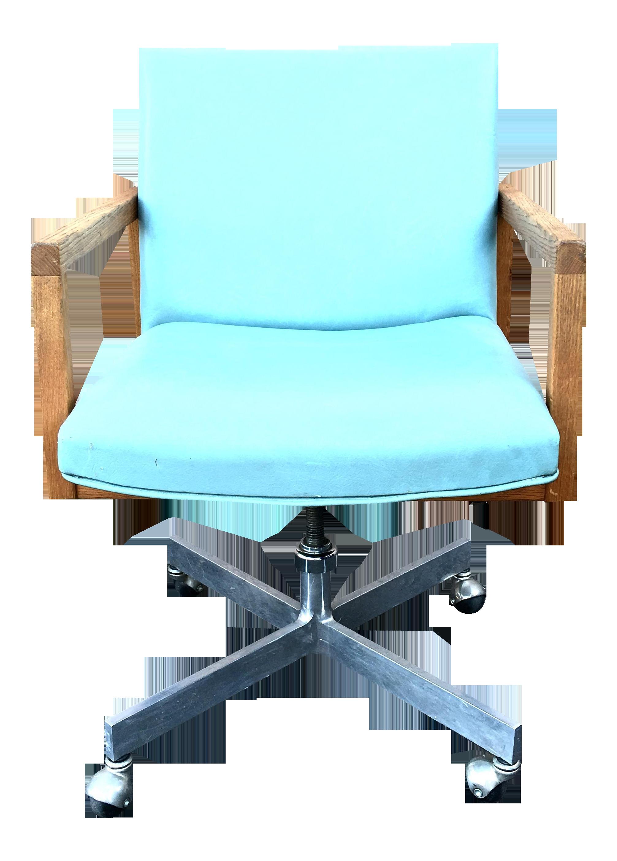 Mid Century Modern Seafoam Green fice Chair