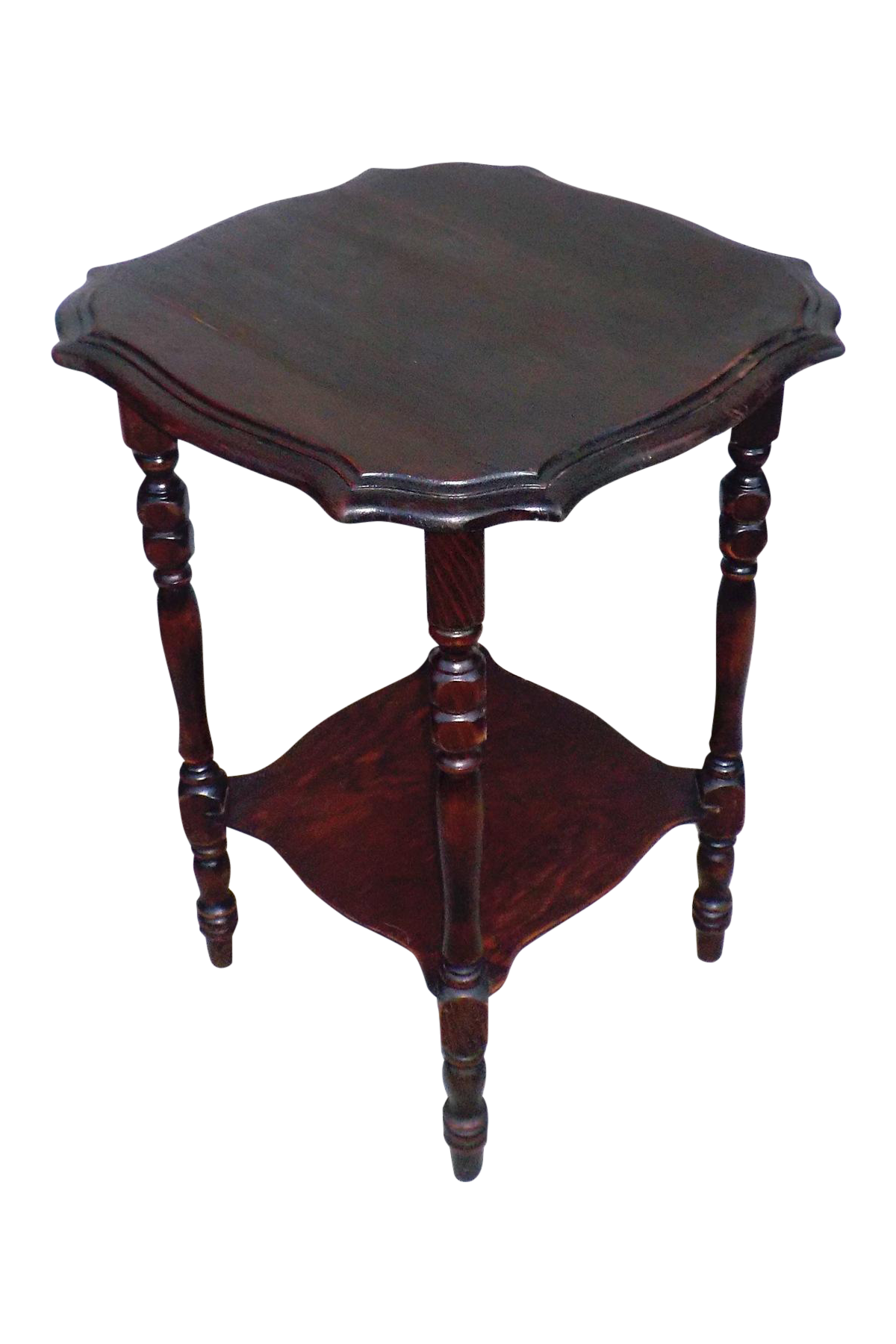 Hollywood Regency Vintage Wood Two Tier Side Table Chairish