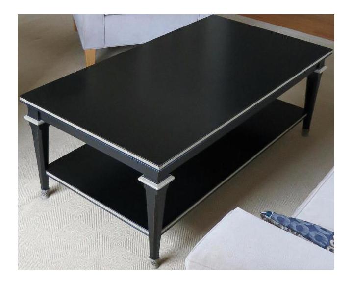 Hickory Chair Black Wood Coffee Table Chairish