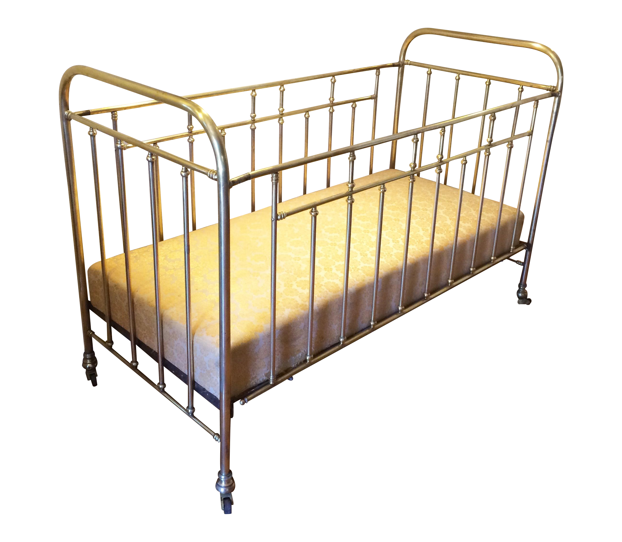 Vintage French Solid Brass Baby Crib Chairish