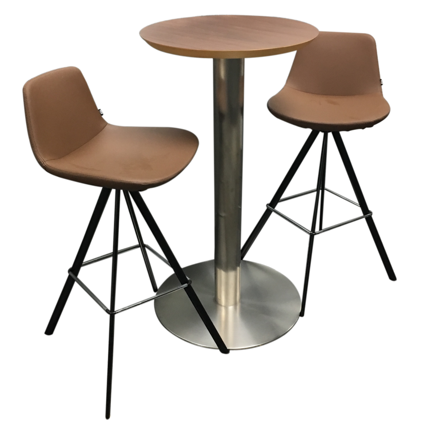 boconcept bar table swivel bar stools set of 3 chairish. Black Bedroom Furniture Sets. Home Design Ideas