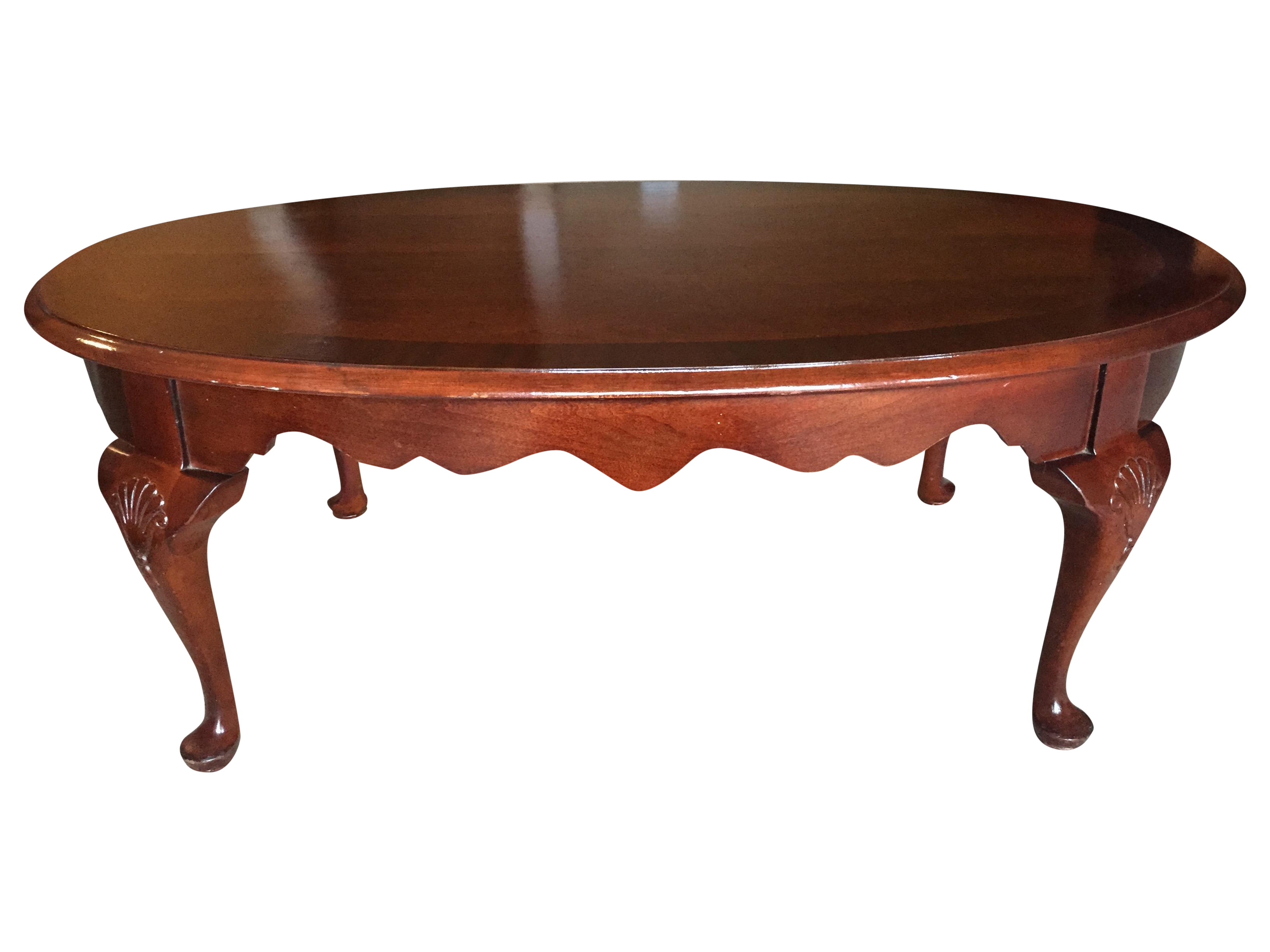 Vintage Queen Anne Style Coffee Table Chairish