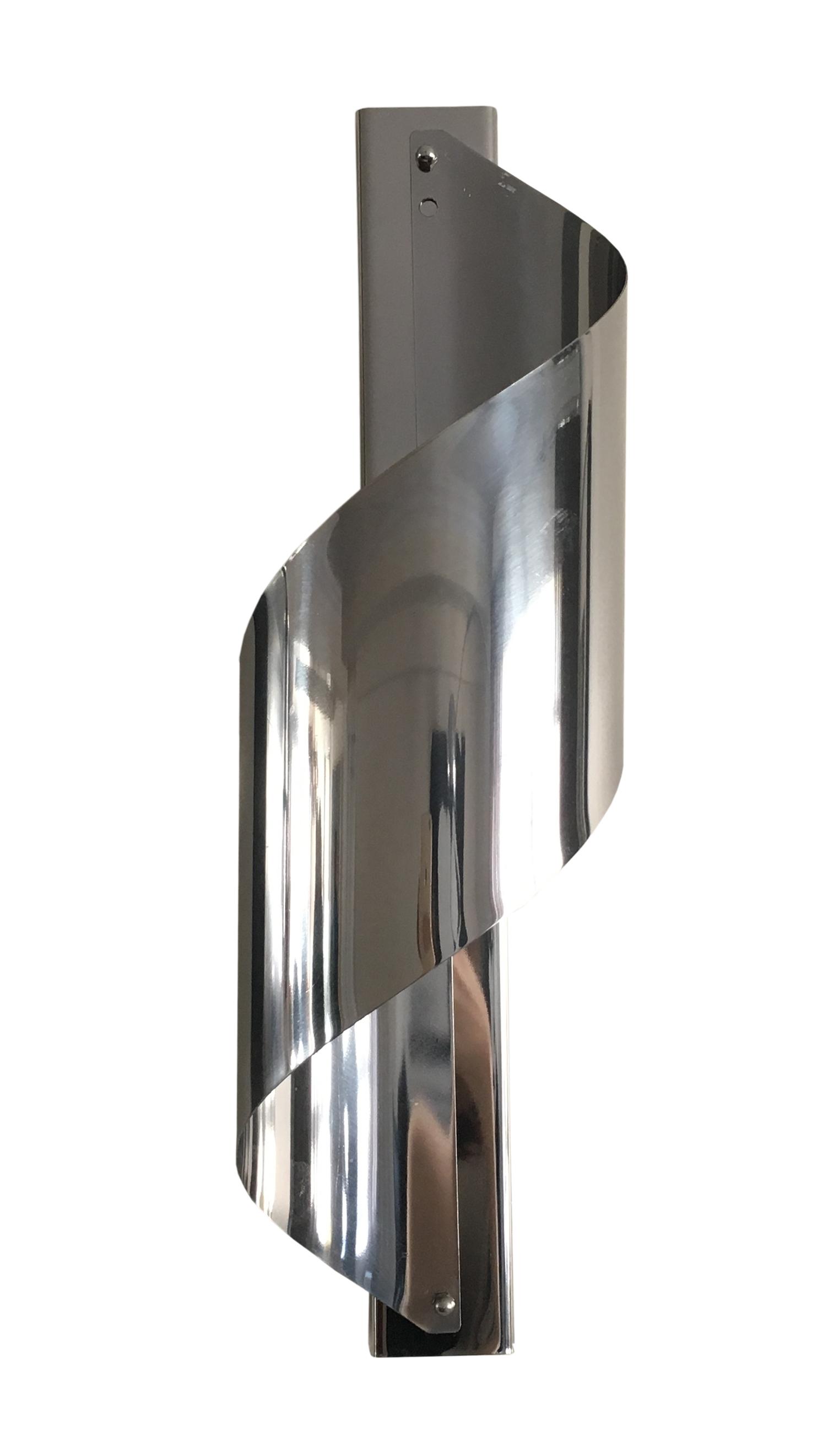 Mid-Century Chrome Spiral Wall Sconces - A Pair Chairish