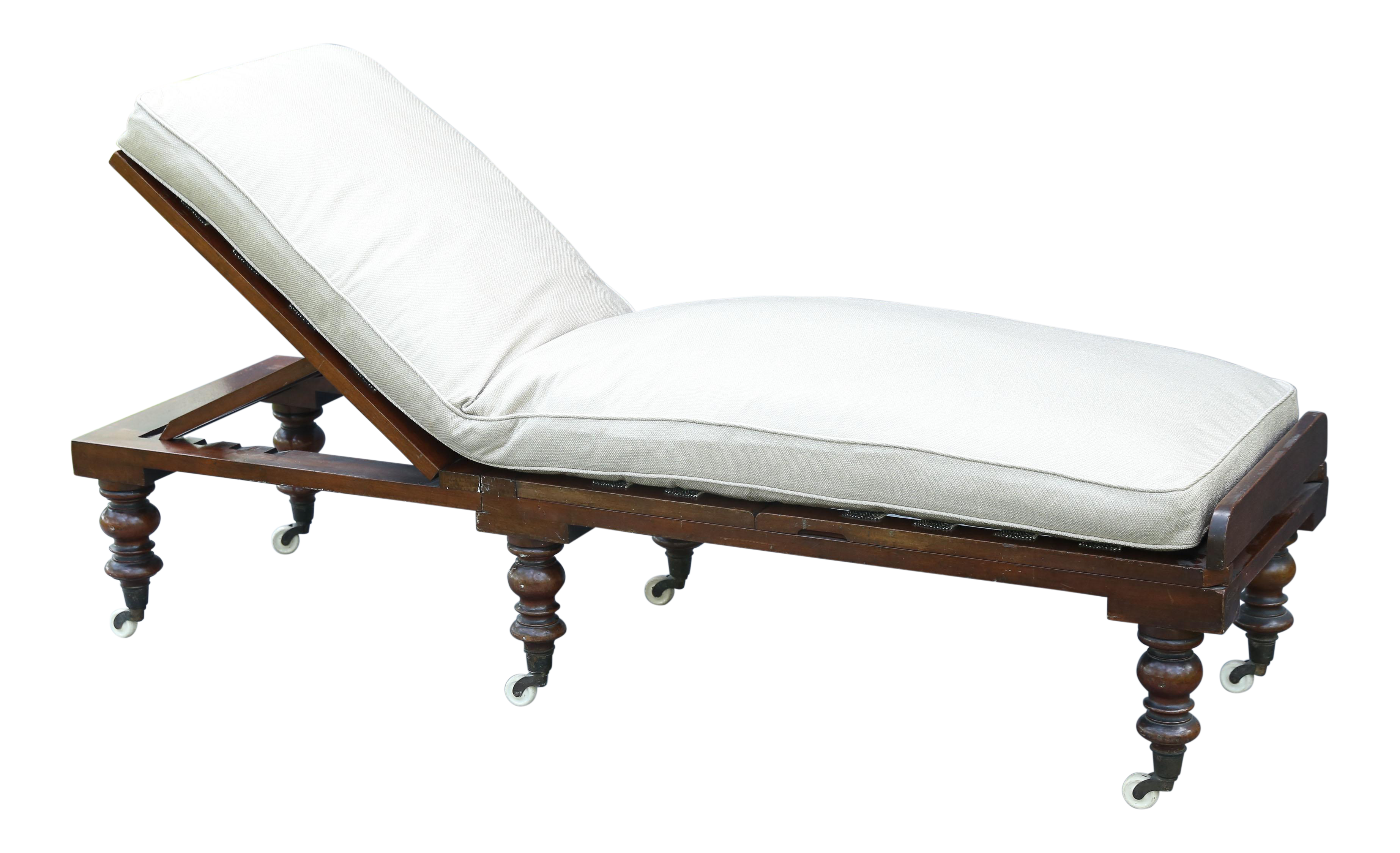 Antique english regency mahogany chaise longue chairish for Chaise longue antique