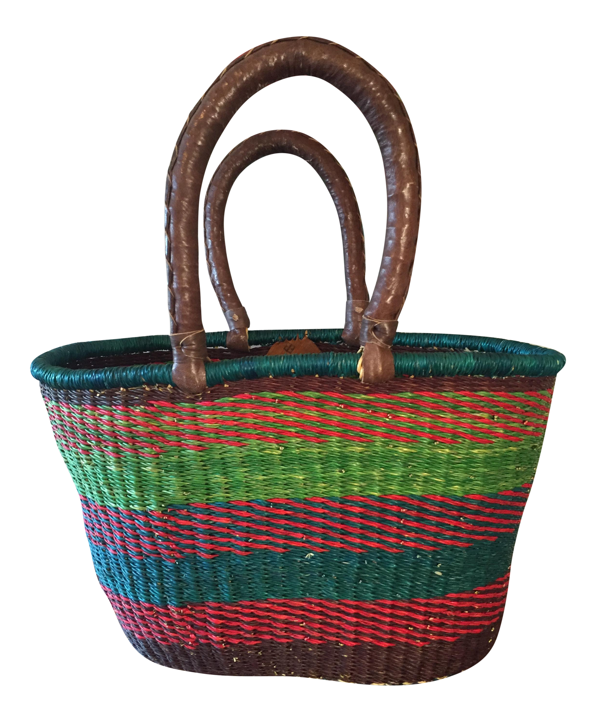 Handmade Baskets From Africa : African handmade turquoise ping basket chairish