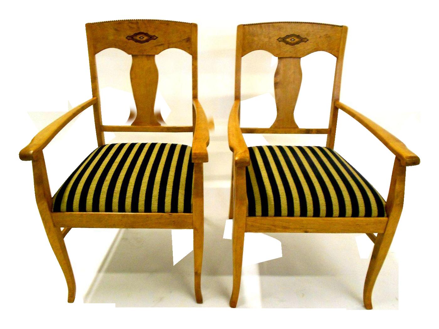 Swedish jugendstil birch armchairs a pair chairish for Sofa jugendstil